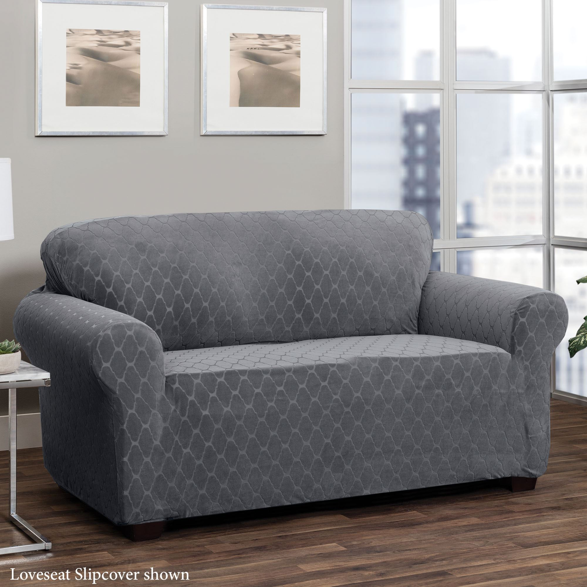 Peachy Helix Dark Gray Stretch Furniture Slipcovers Forskolin Free Trial Chair Design Images Forskolin Free Trialorg