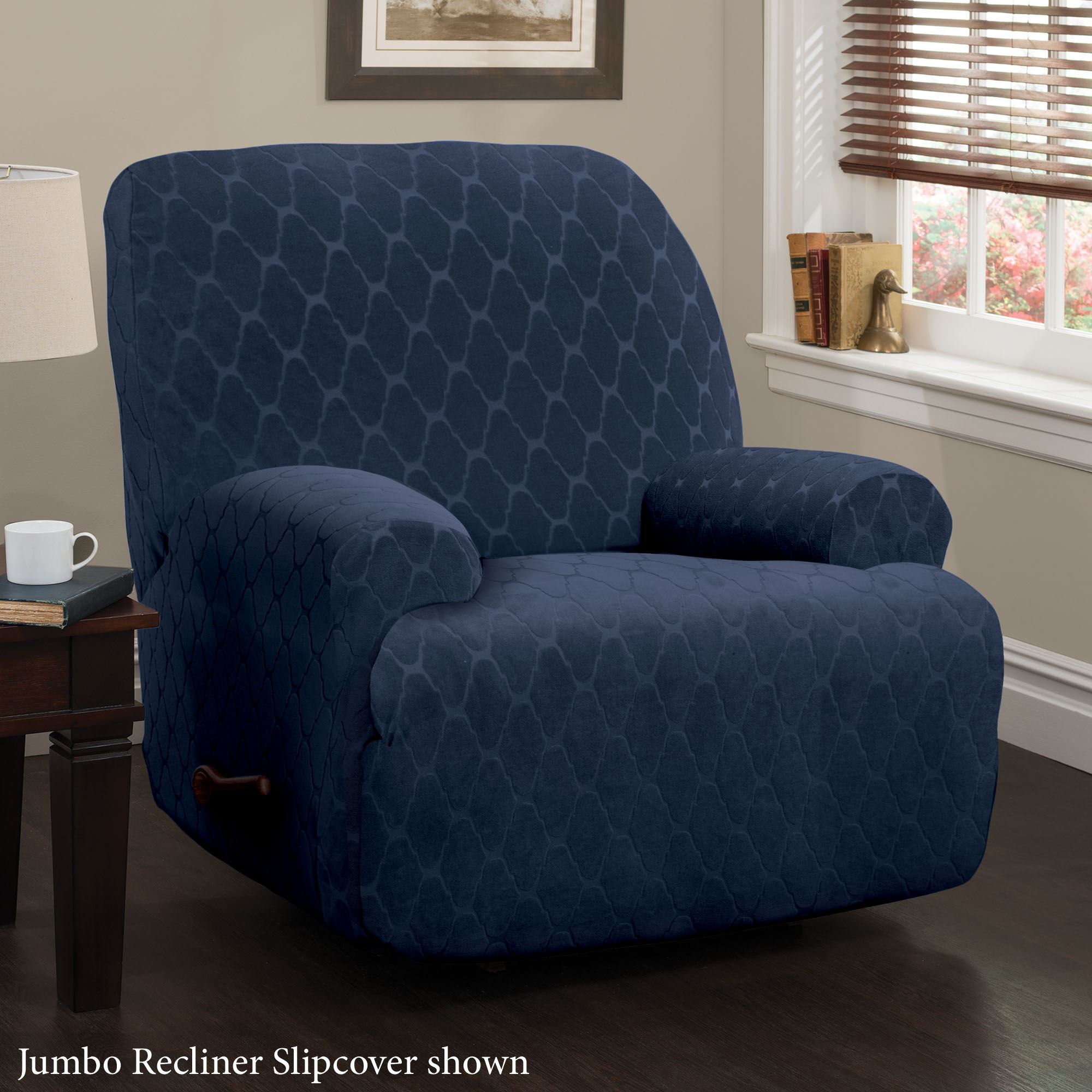 Helix Midnight Blue Stretch Furniture Slipcovers