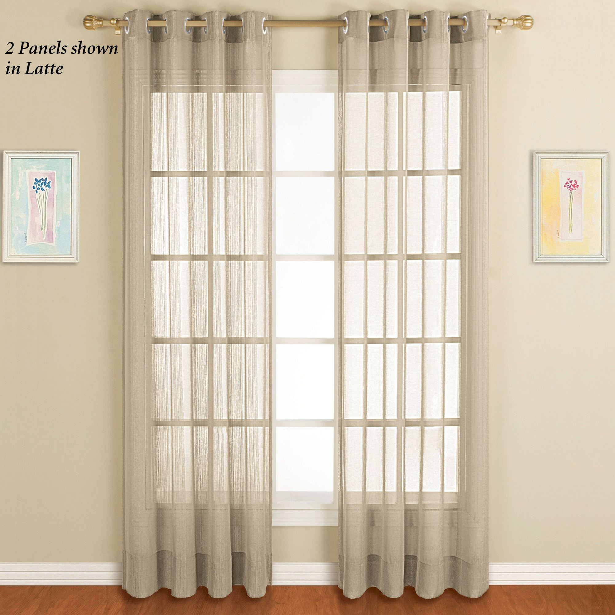 Dakota Sheer Grommet Curtain Panel