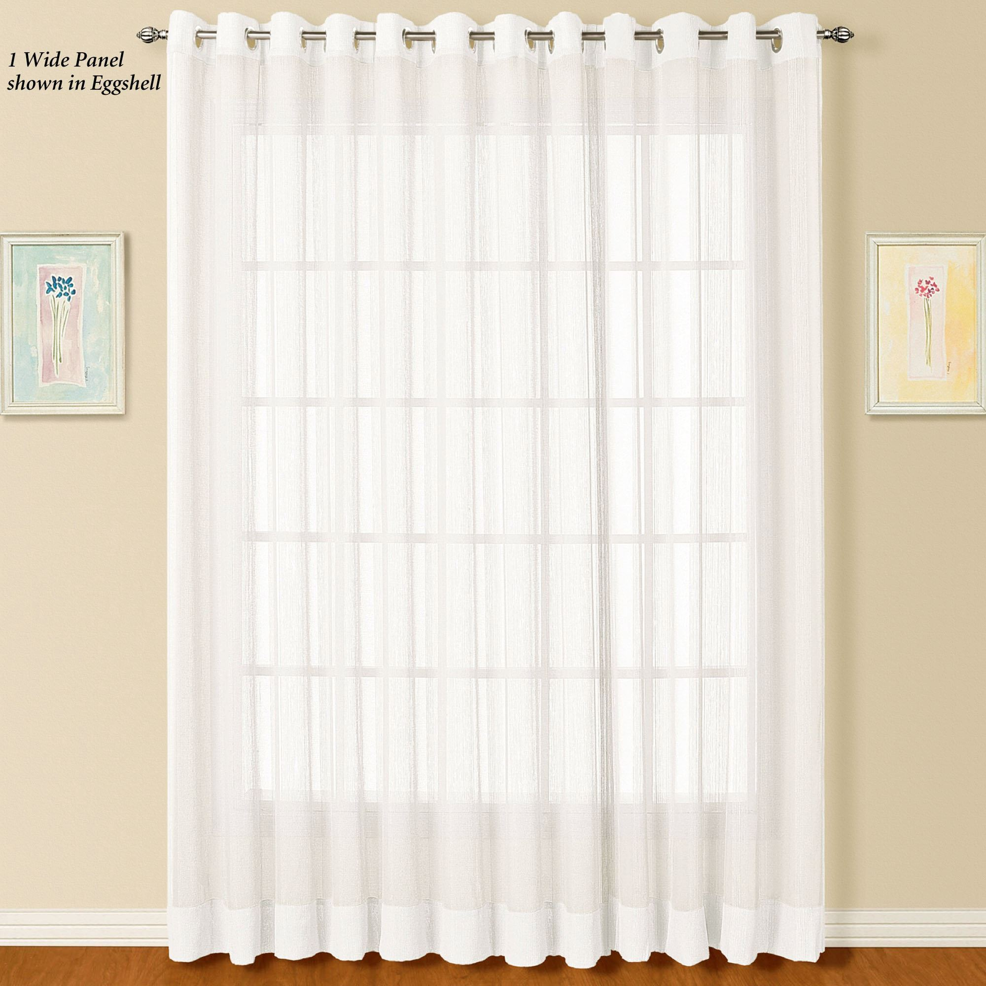 Dakota Wide Sheer Grommet Curtain Panel