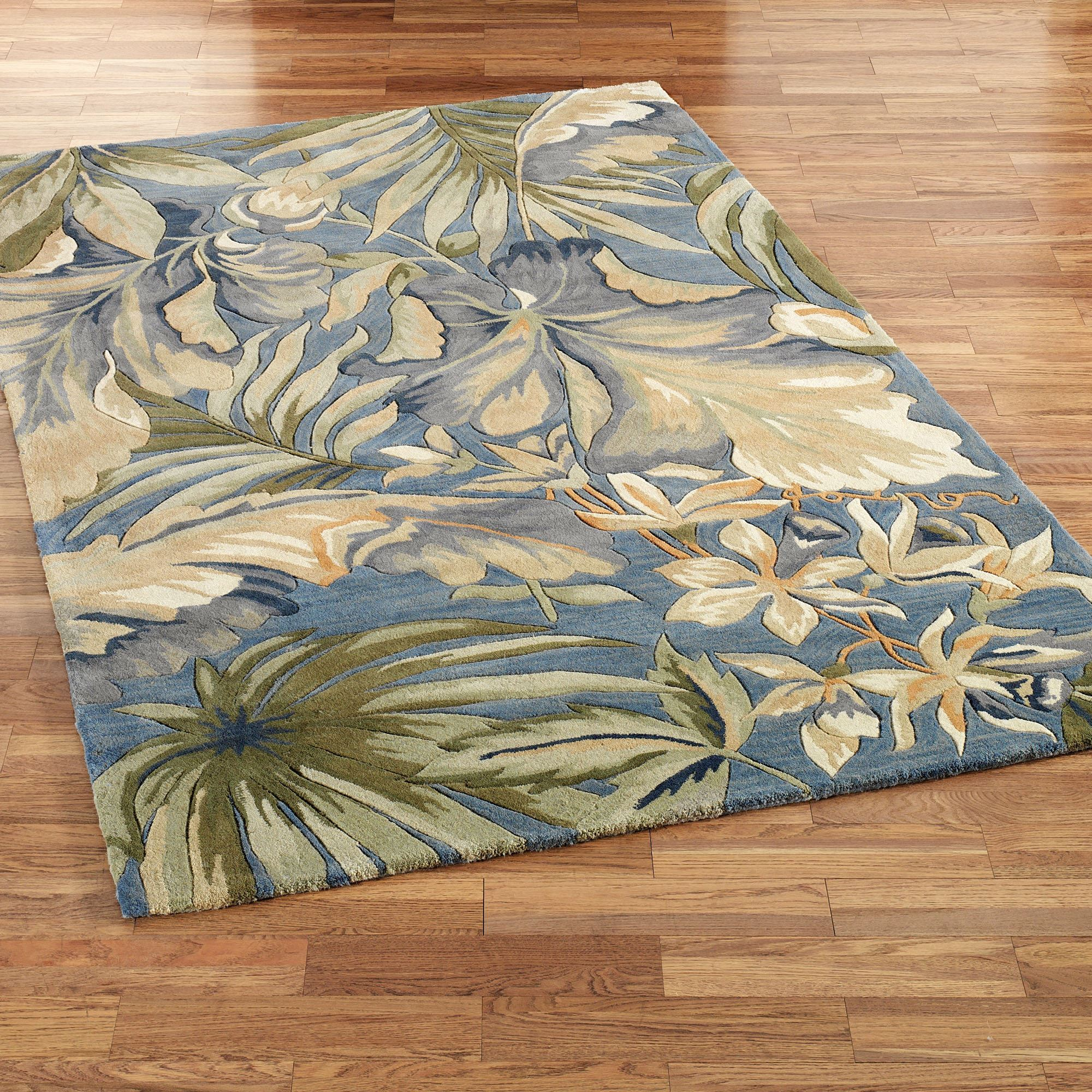 Paradise Blue Rectangle Rug