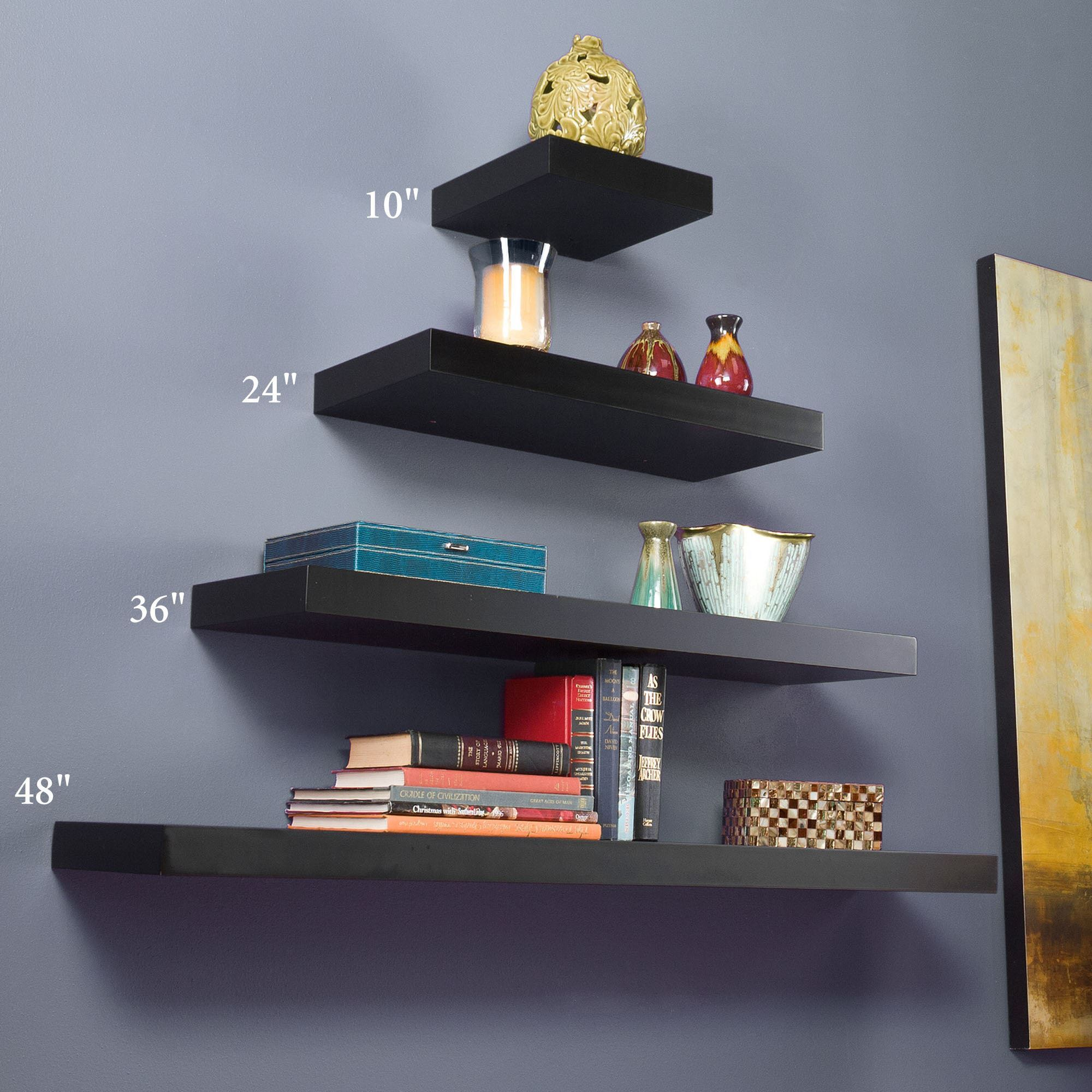 Manhattan Black Floating Shelf. Click to expand