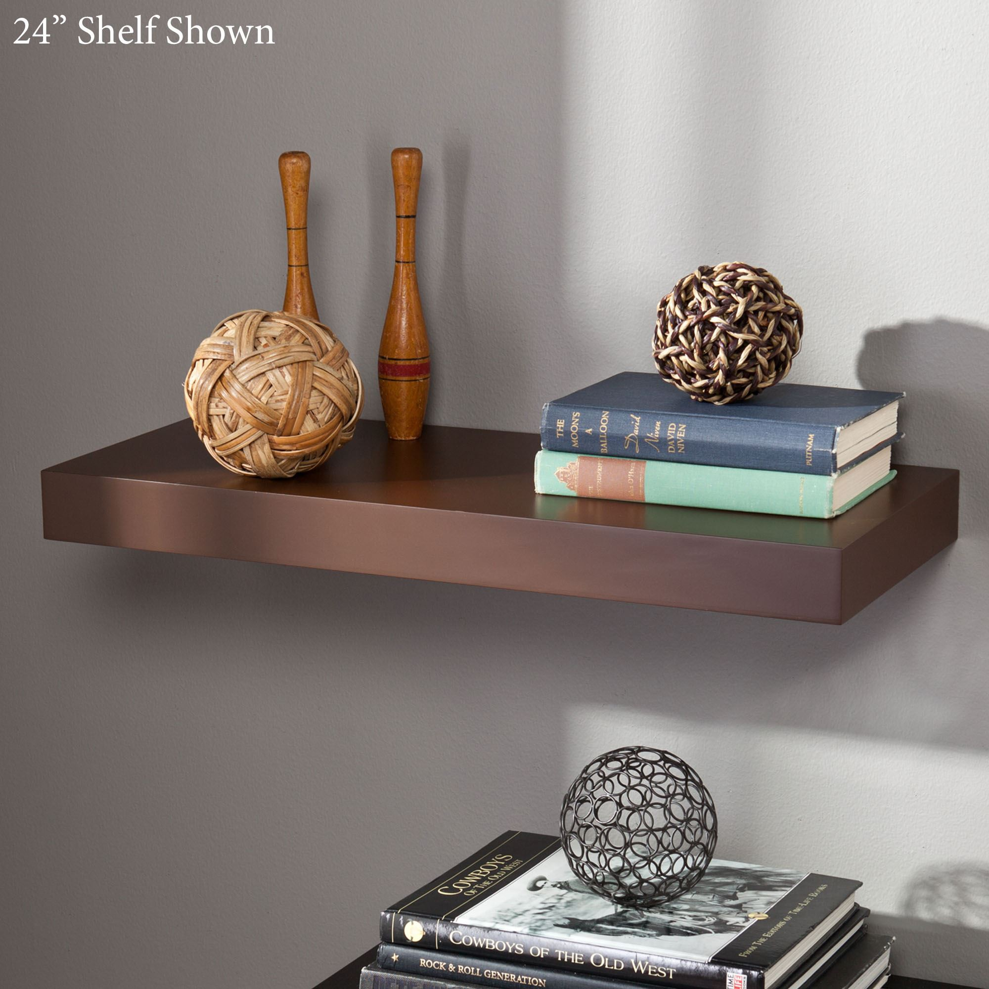Manhattan Brown Floating Shelf. Click to expand