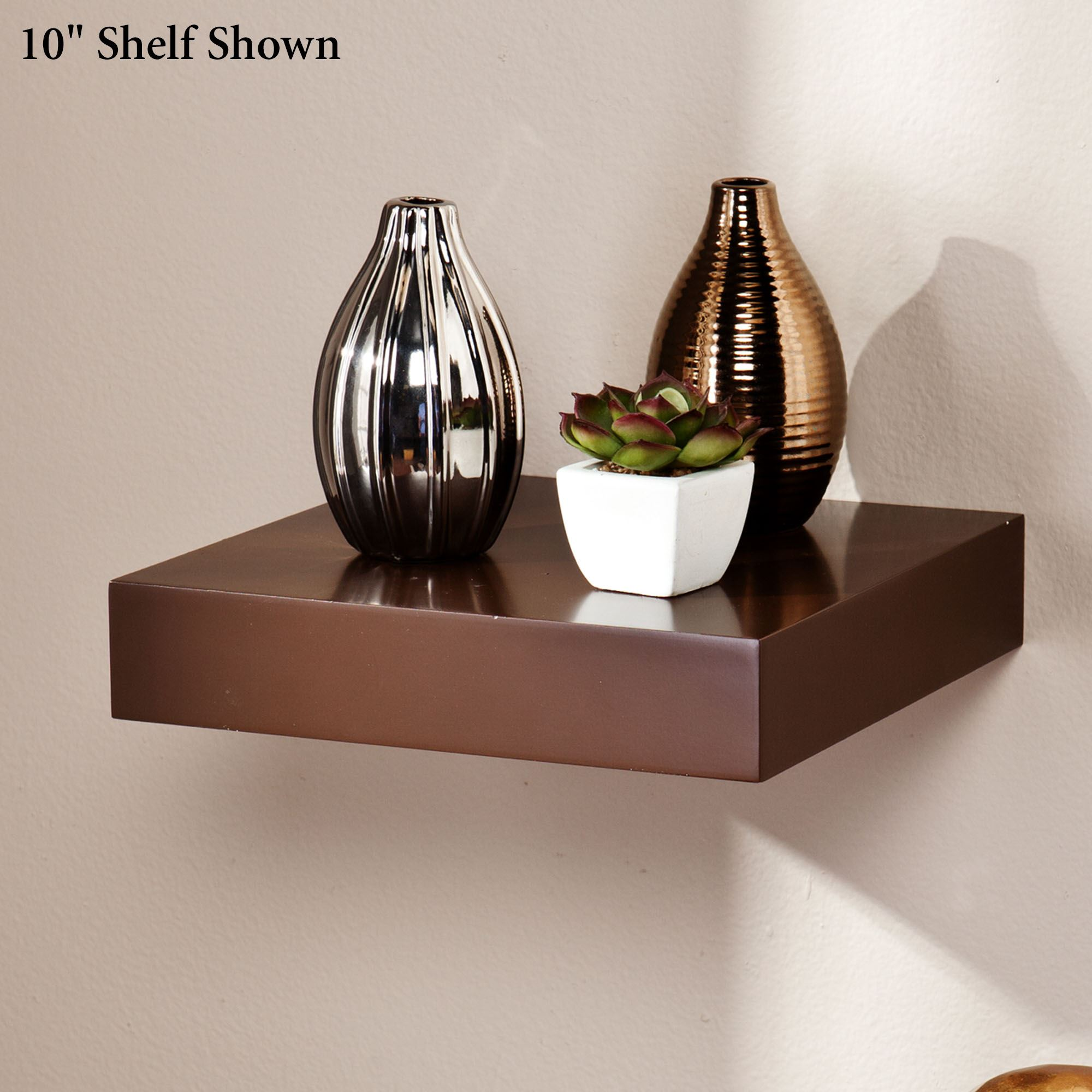 Manhattan Brown Wooden Floating Wall Shelves