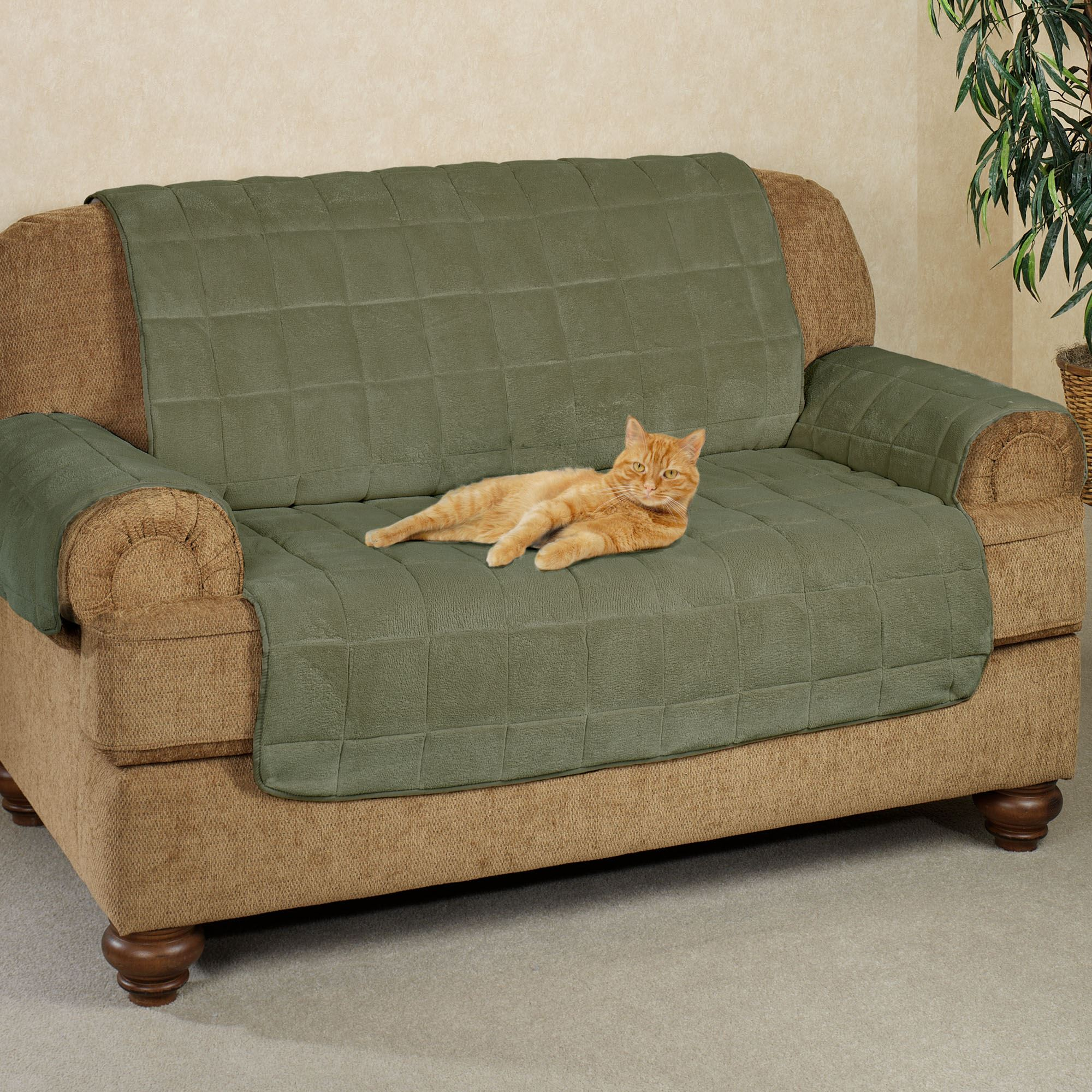 Picture of: Microplush Pet Furniture Covers With Longer Back Flap