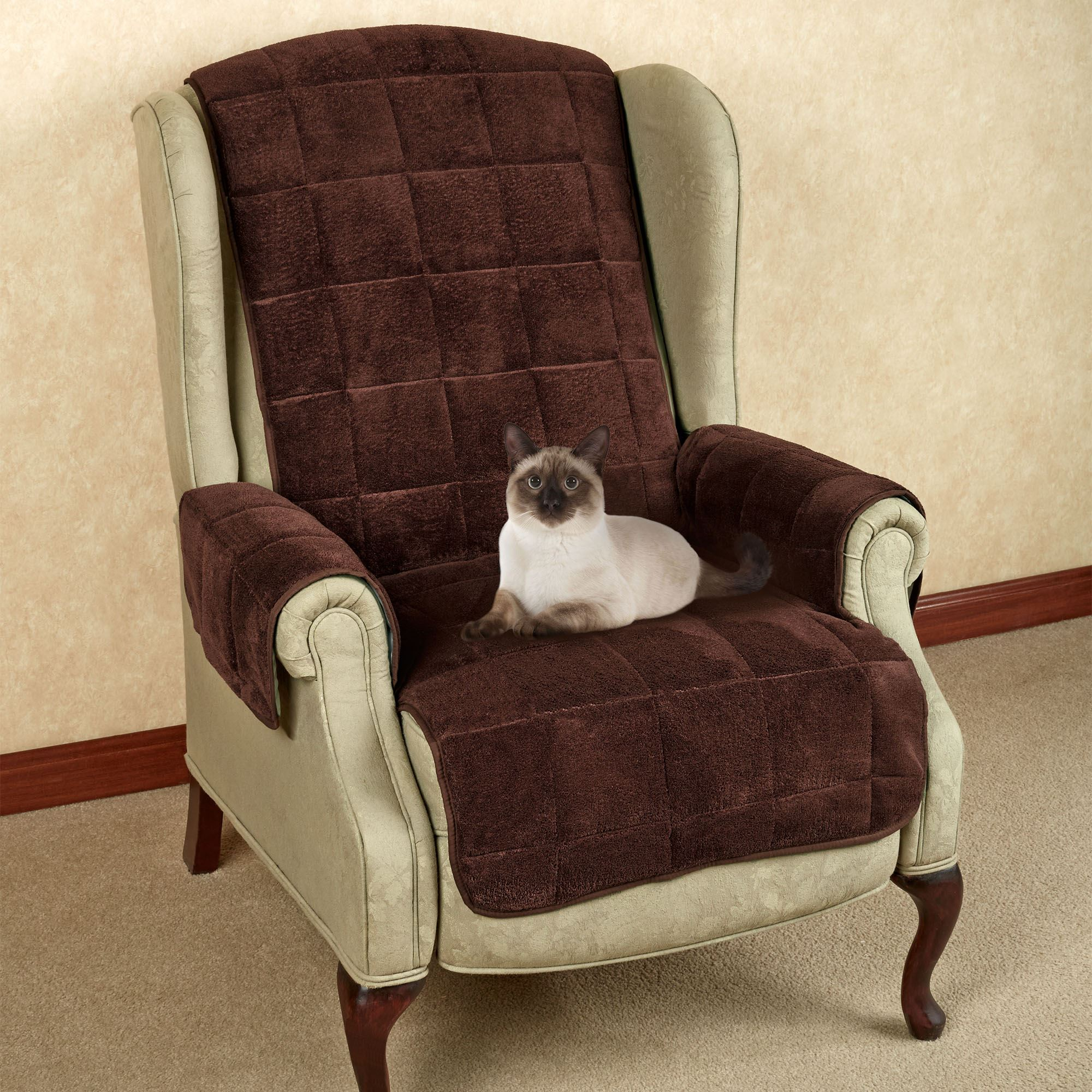 Charmant Microplush Pet Furniture Recliner/Wing Chair Cover