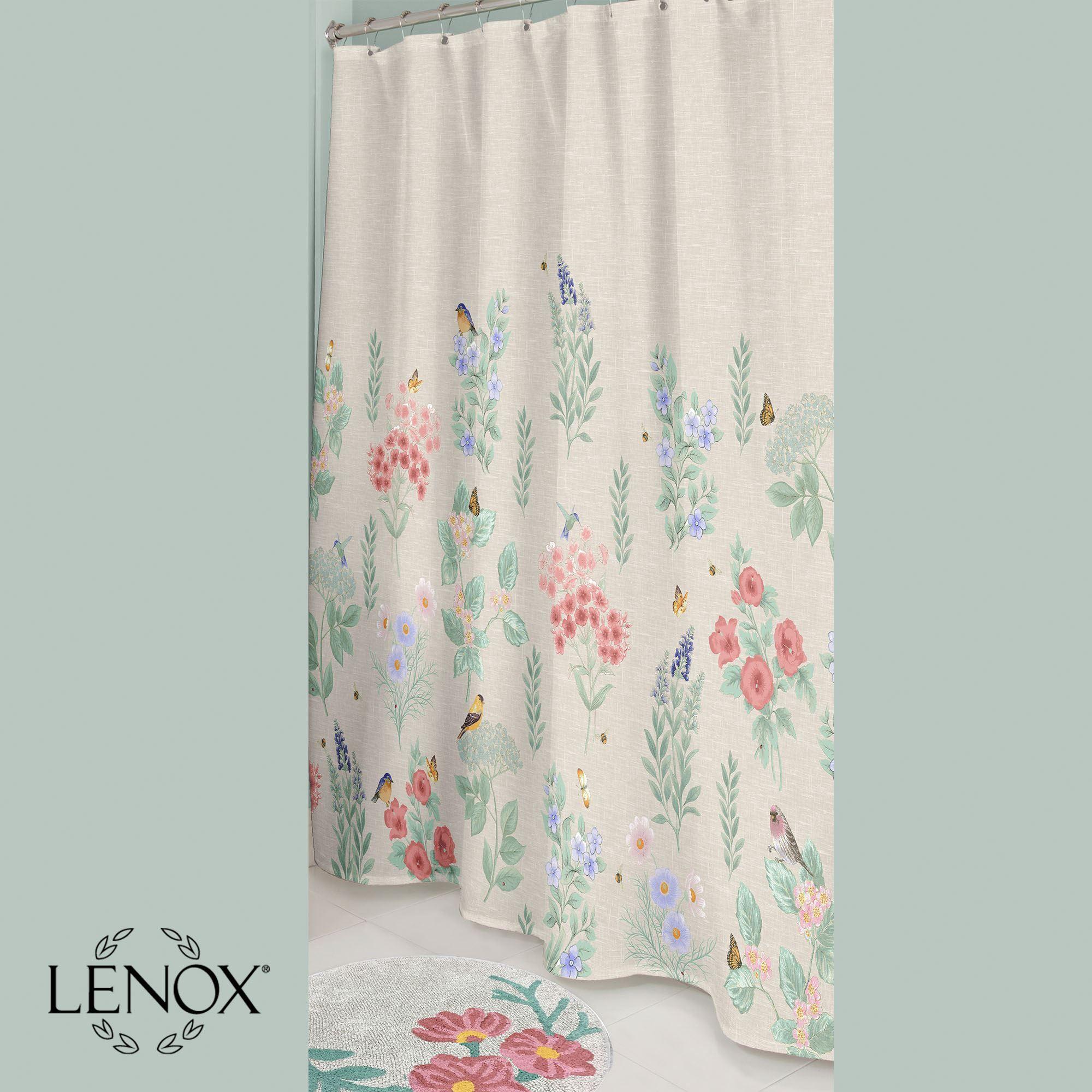 Lenox Meadow Birds Floral Shower Curtain