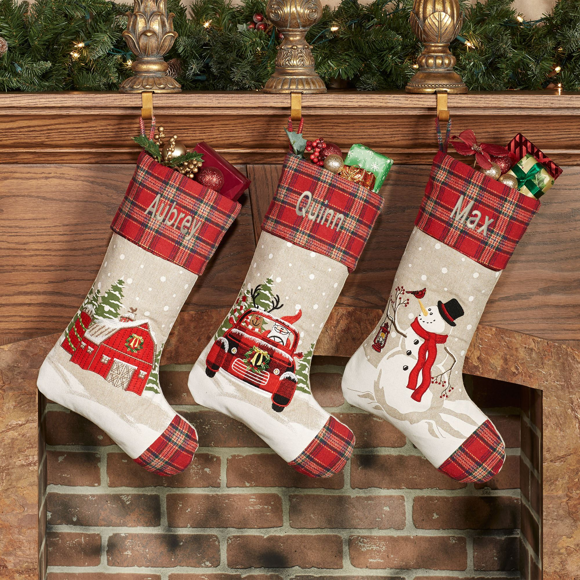 Brand New Christmas Stocking Panel