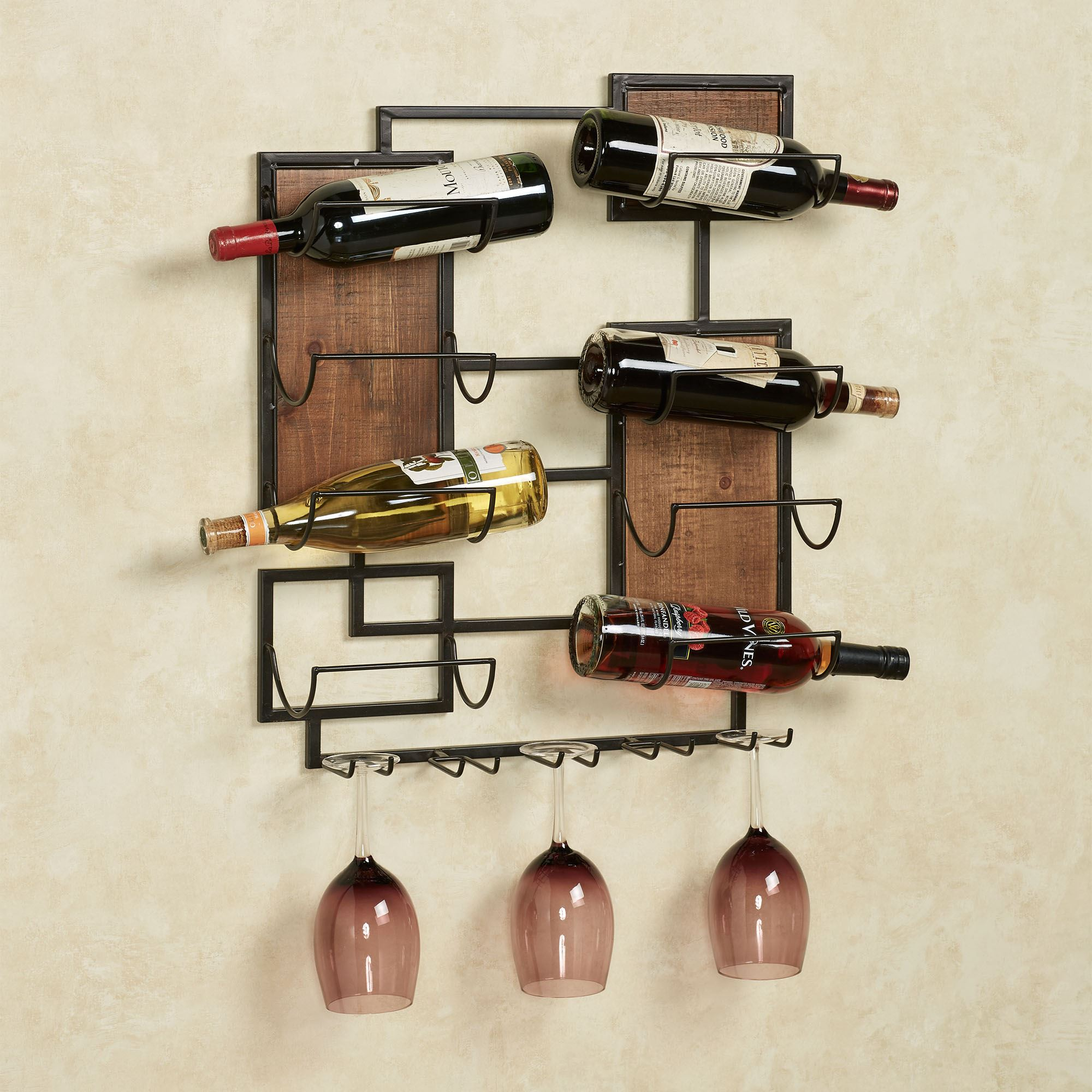 Coulter Wall Wine Bottle And Stemware Rack