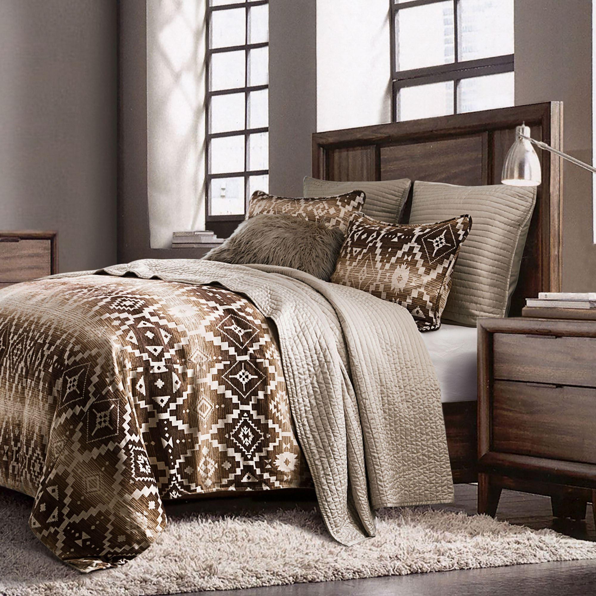 Chalet Ombre Rustic Mini Comforter Set Bedding