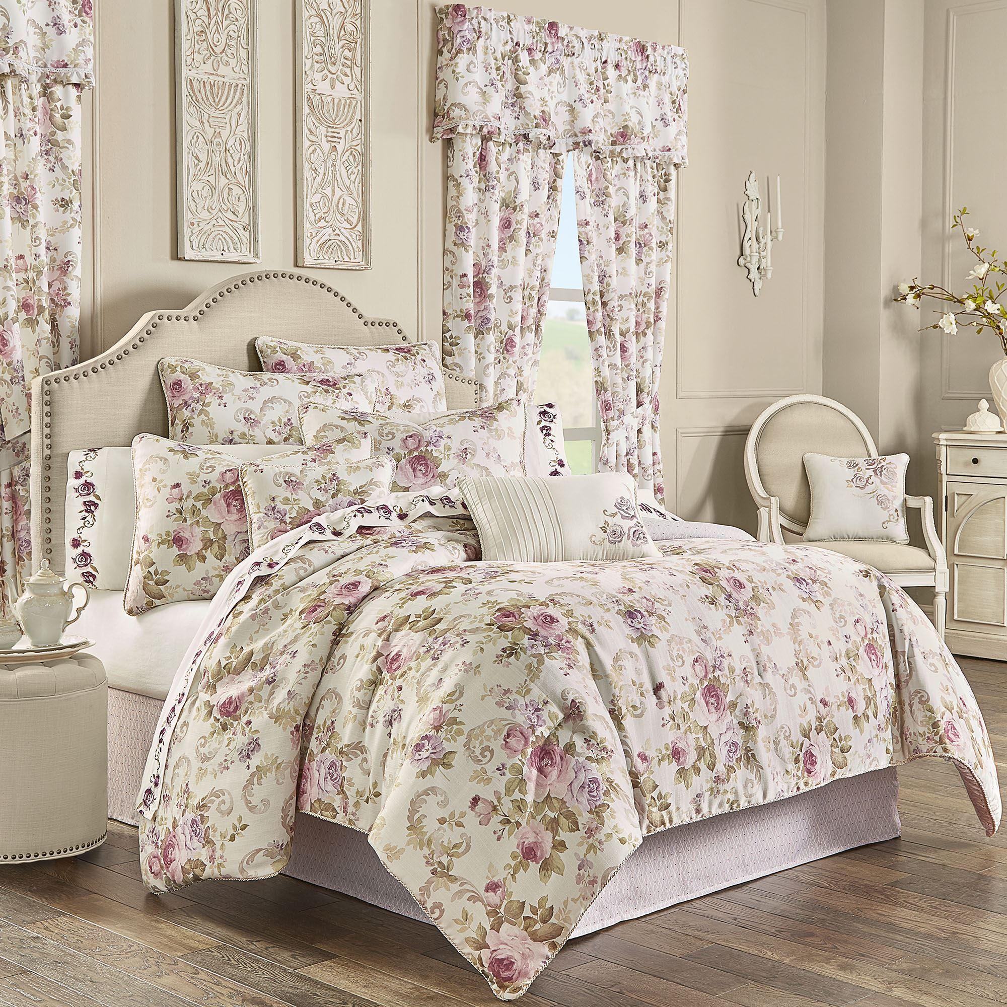 Chambord Lavender Floral Comforter Bedding By Royal Court