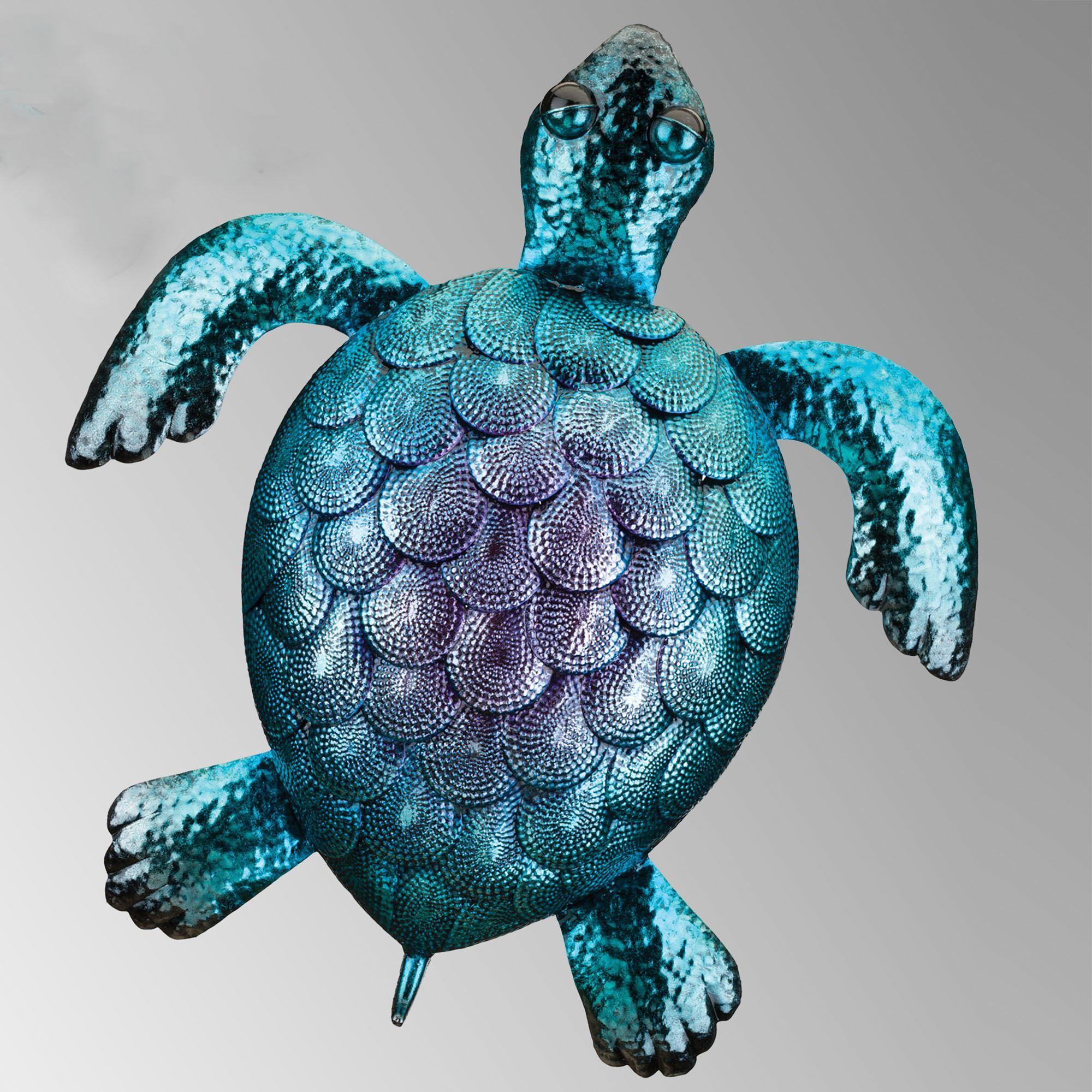 Sea Turtle Indoor Outdoor Metal Wall Art