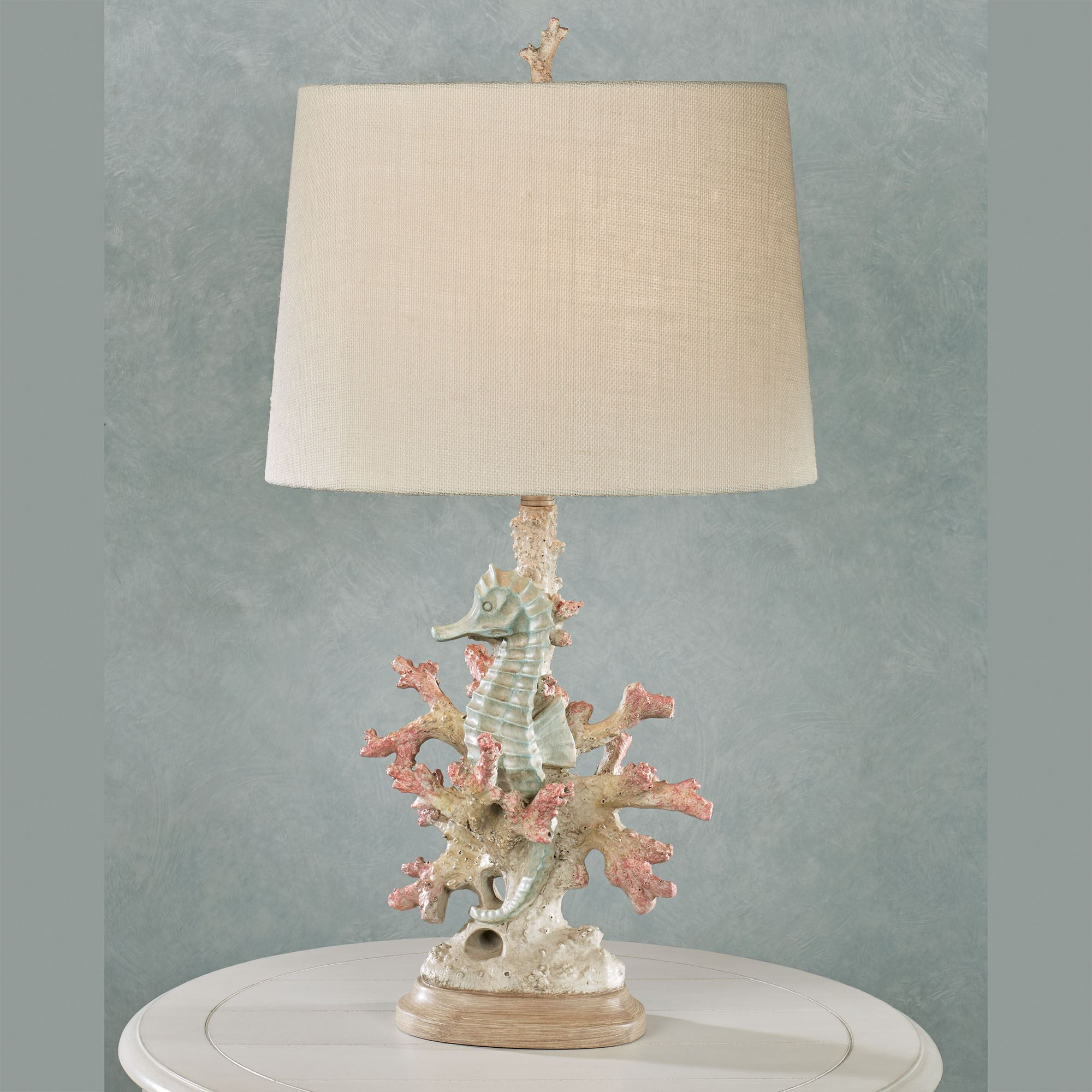 Seahorse And Coral Coastal Table Lamp