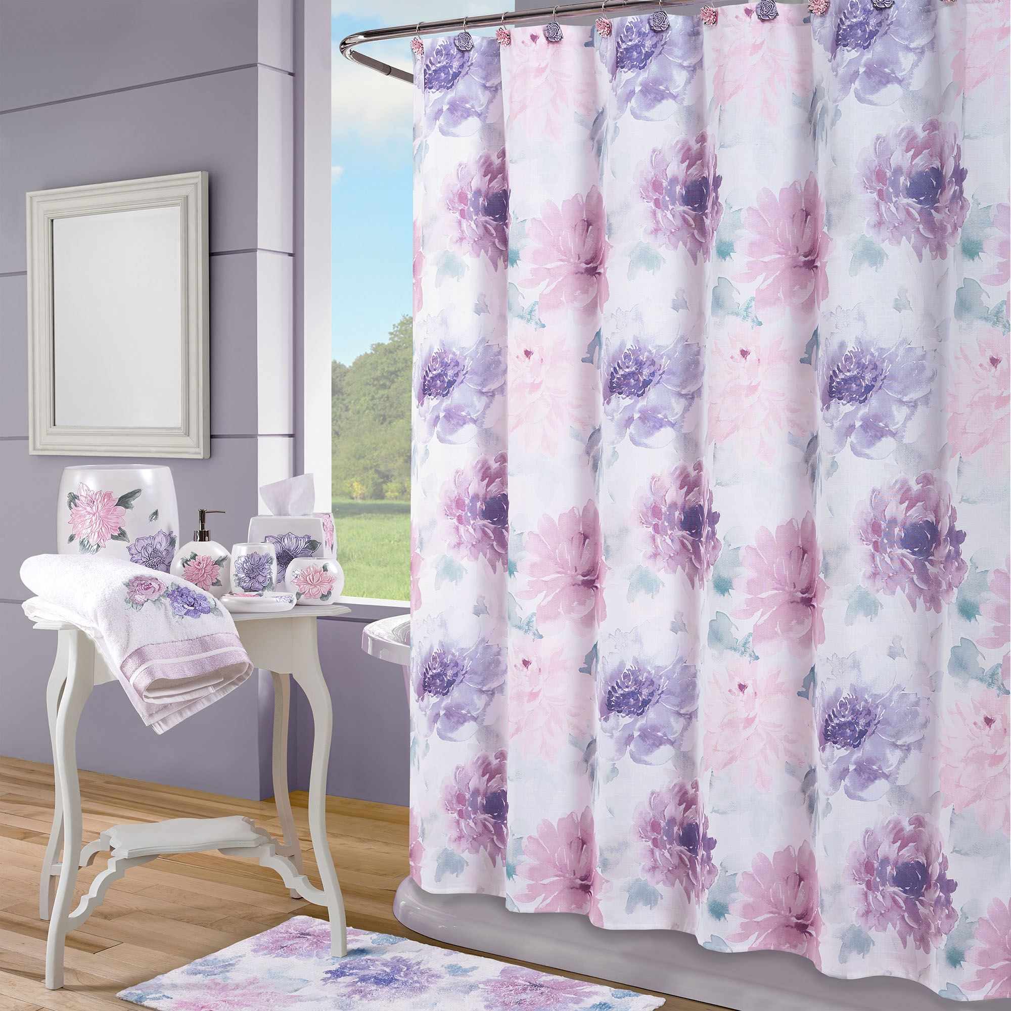 Ashleigh Pink And Purple Fl Shower