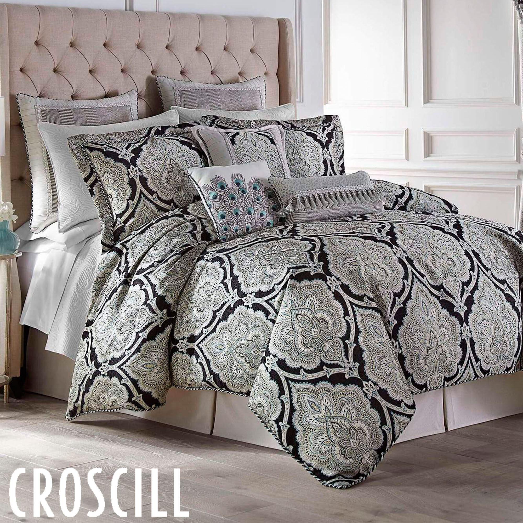 Dianella Damask Medallion Black Comforter Set Bedding From Croscill