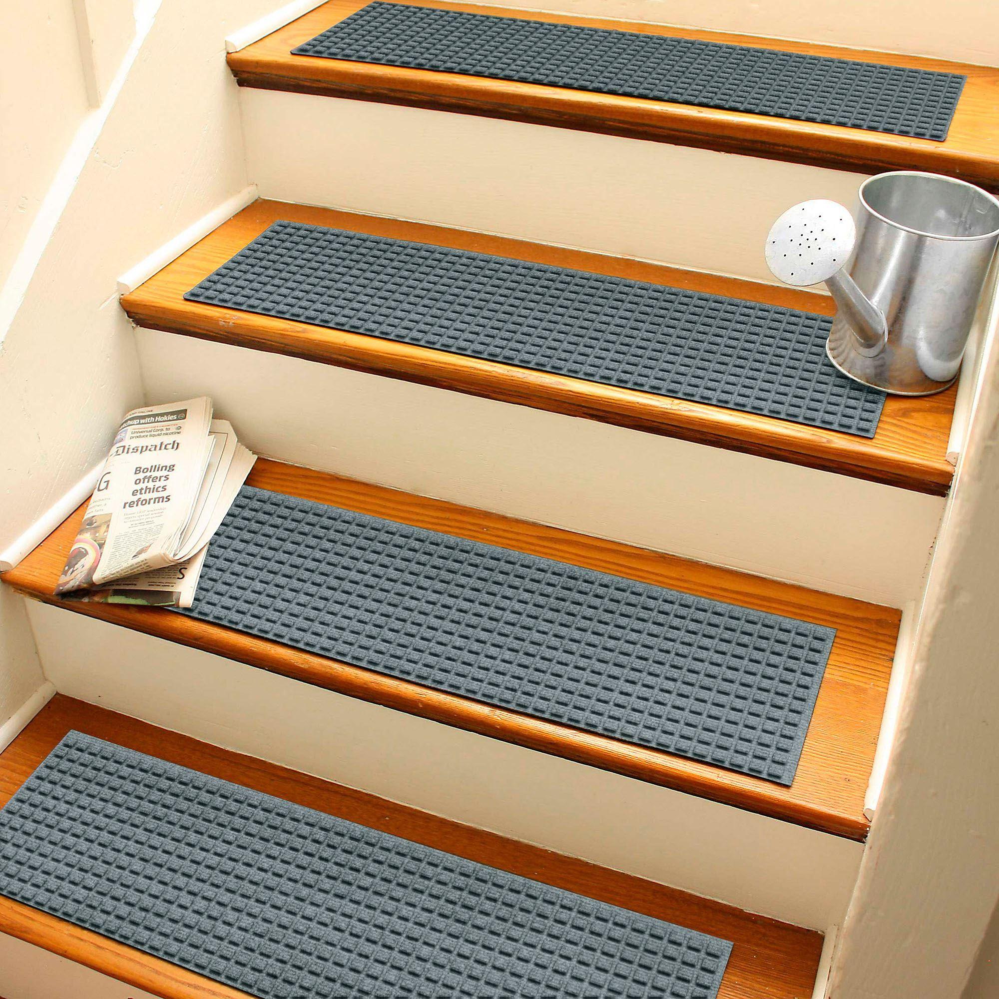 Squares Indoor Outdoor Waterhog Stair Tread Set Of 4