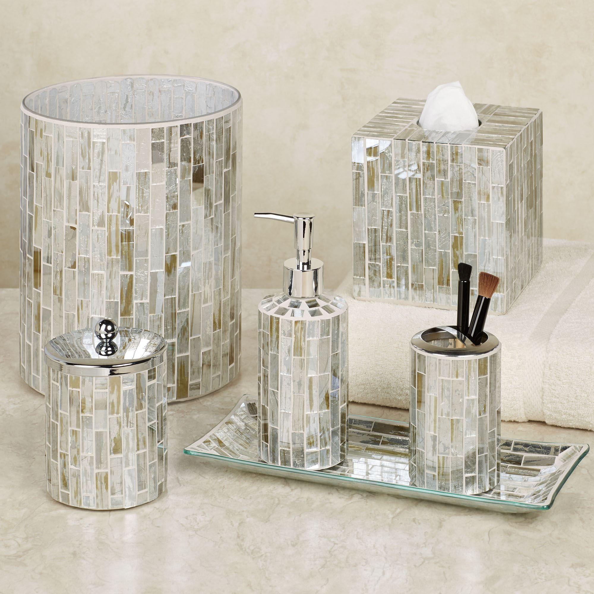 Imogen Mosaic Glass Bath Accessories by J Queen New York