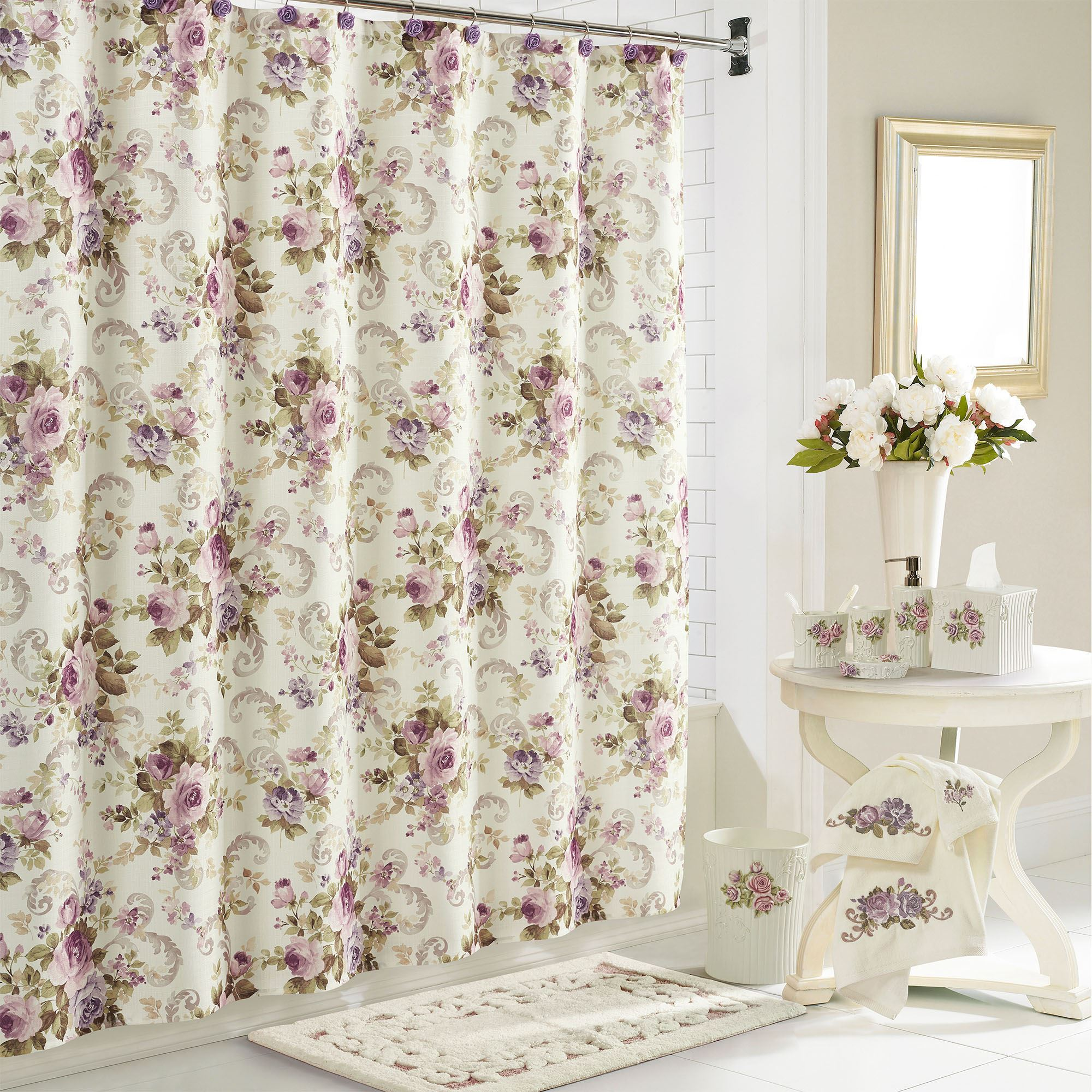 Chambord Floral Shower Curtain By Royal Court Home