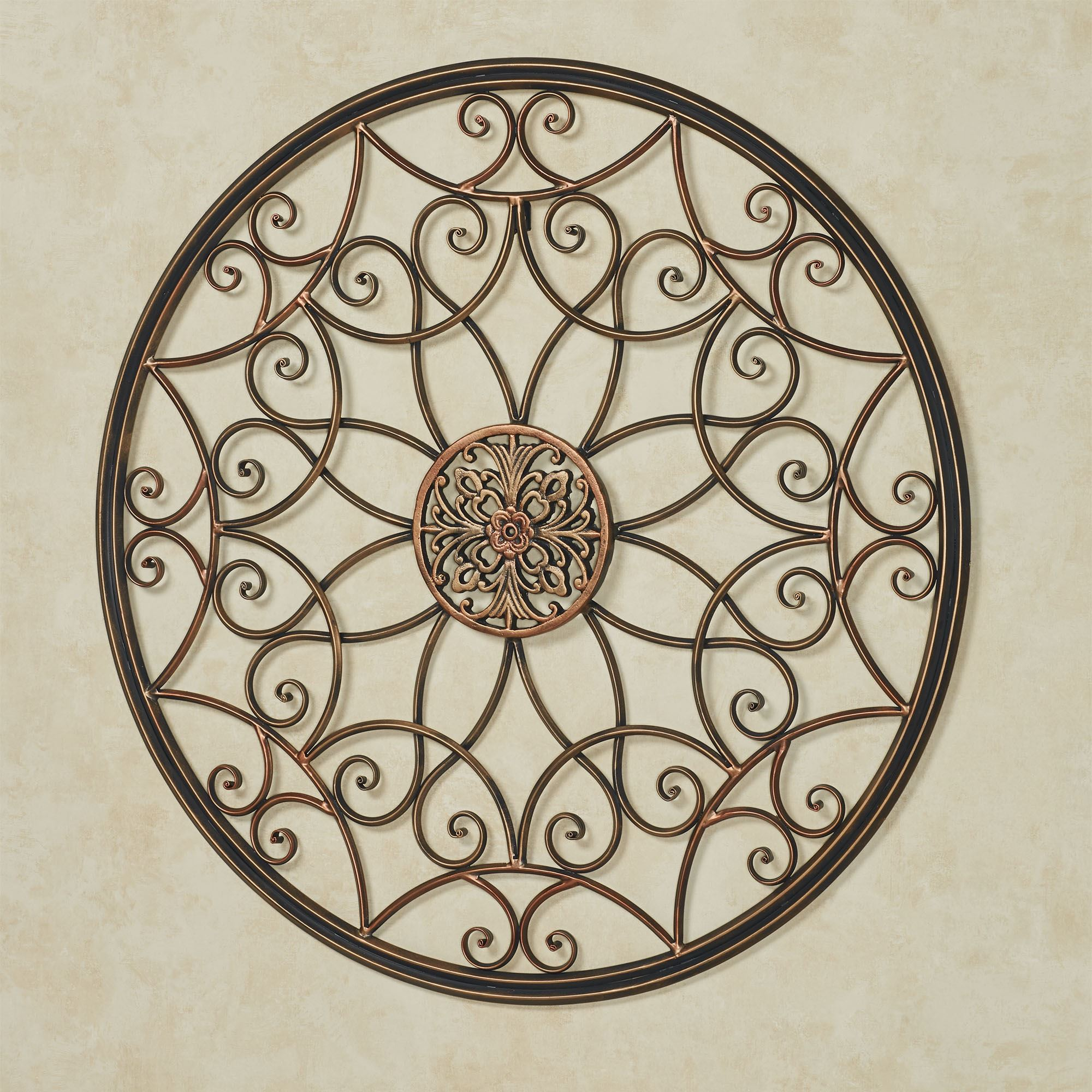 Layken Round Medallion Metal Wall Art Decor