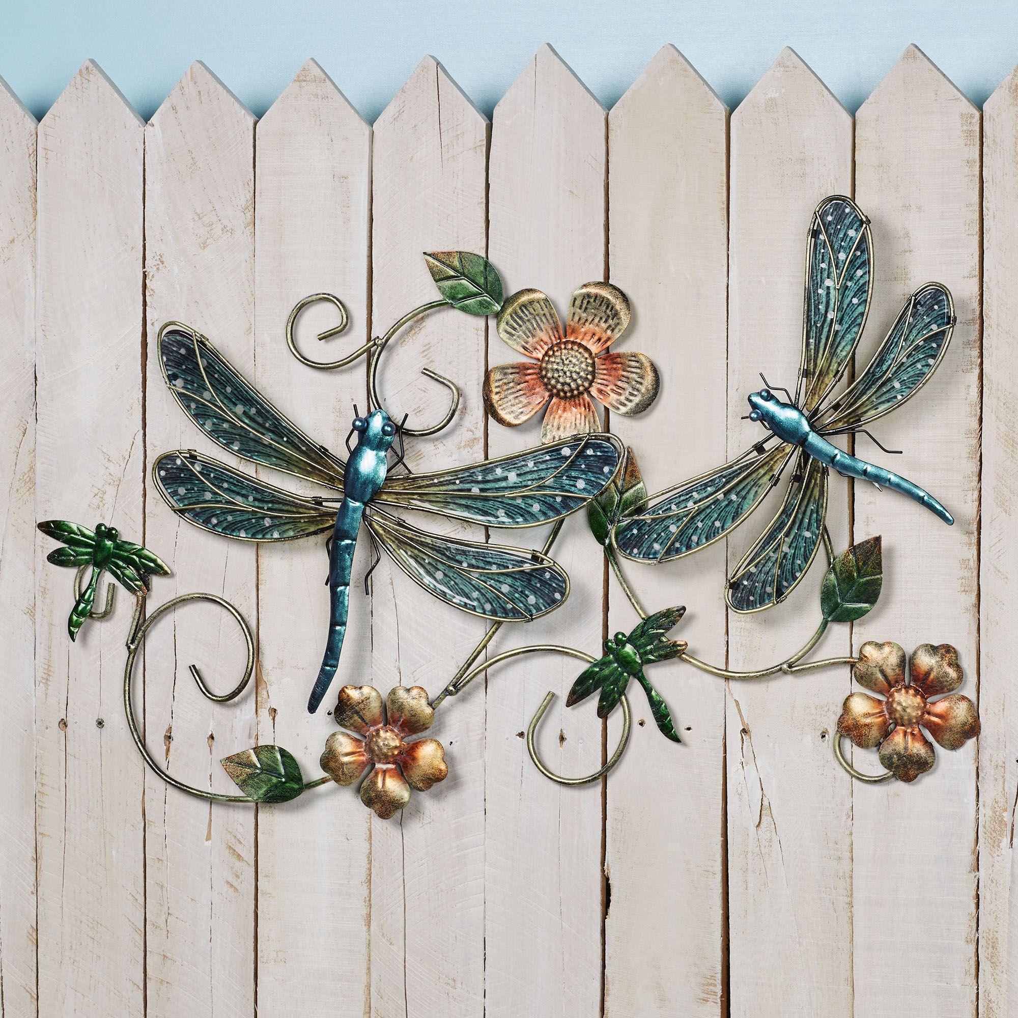 Johns Studio Metal Dragonfly Wall Decor, Dragonfly Bathroom Wall Decor