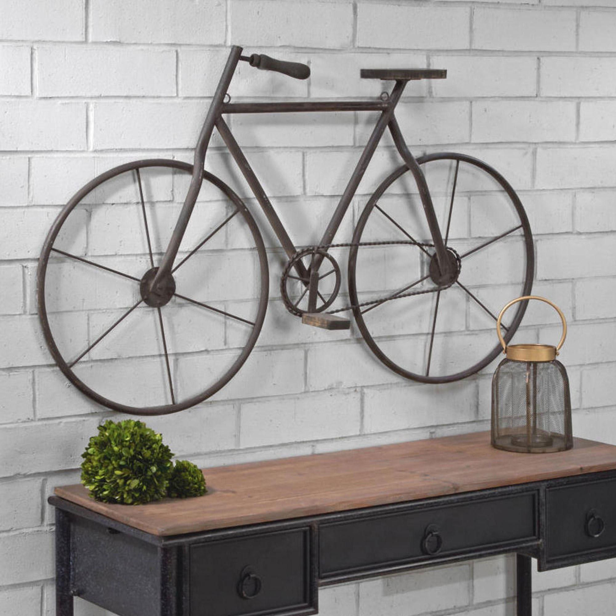 Bicycle Vintage Style Rustic Metal Wall Art