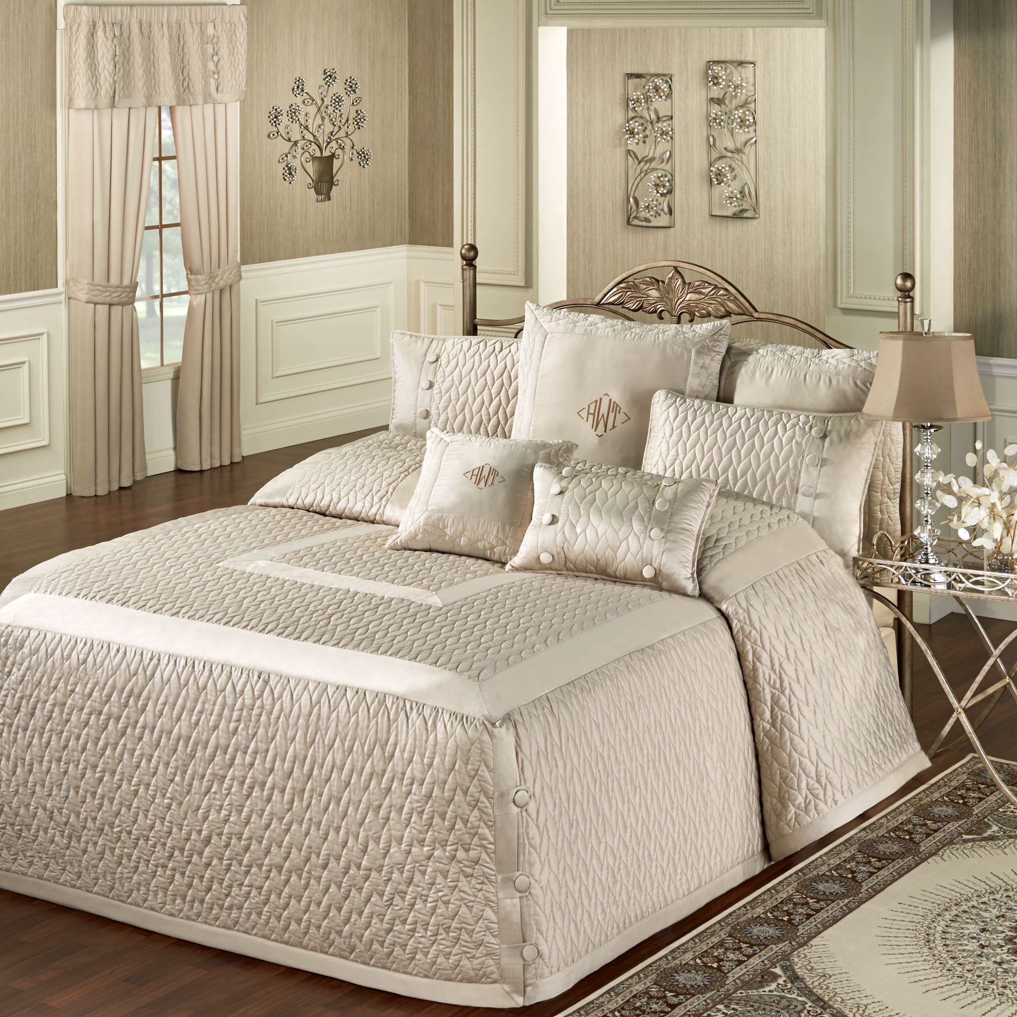 Sleep like royals with the King Charles Matelasse Bedspreads and Bedding, fashioned from the Historic Charleston Foundation Collection. Luxuriously thick, % cotton, matelasse bedspread is a woven textile with a puffed, quilted appearance; bedspread is stone-washed for softness.