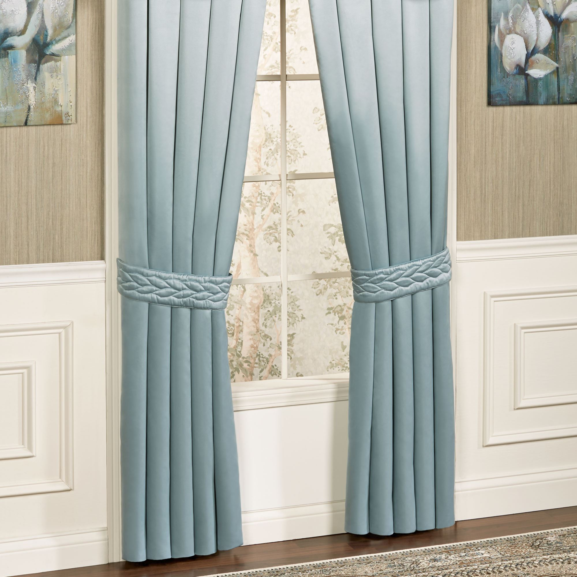Silk Allure Tailored Quilted Valance Window Treatment