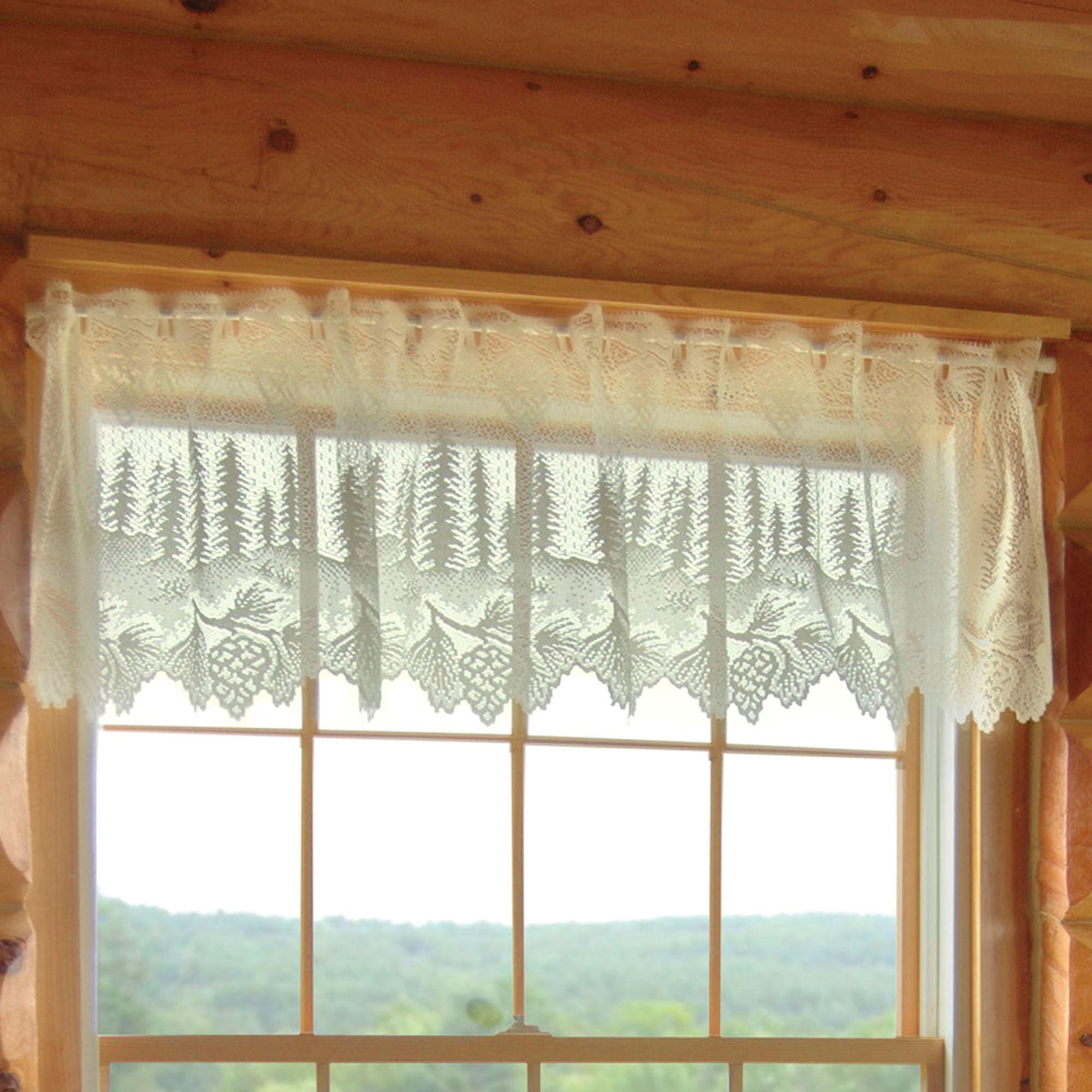 Pine Cone Lace Tier Window Treatment