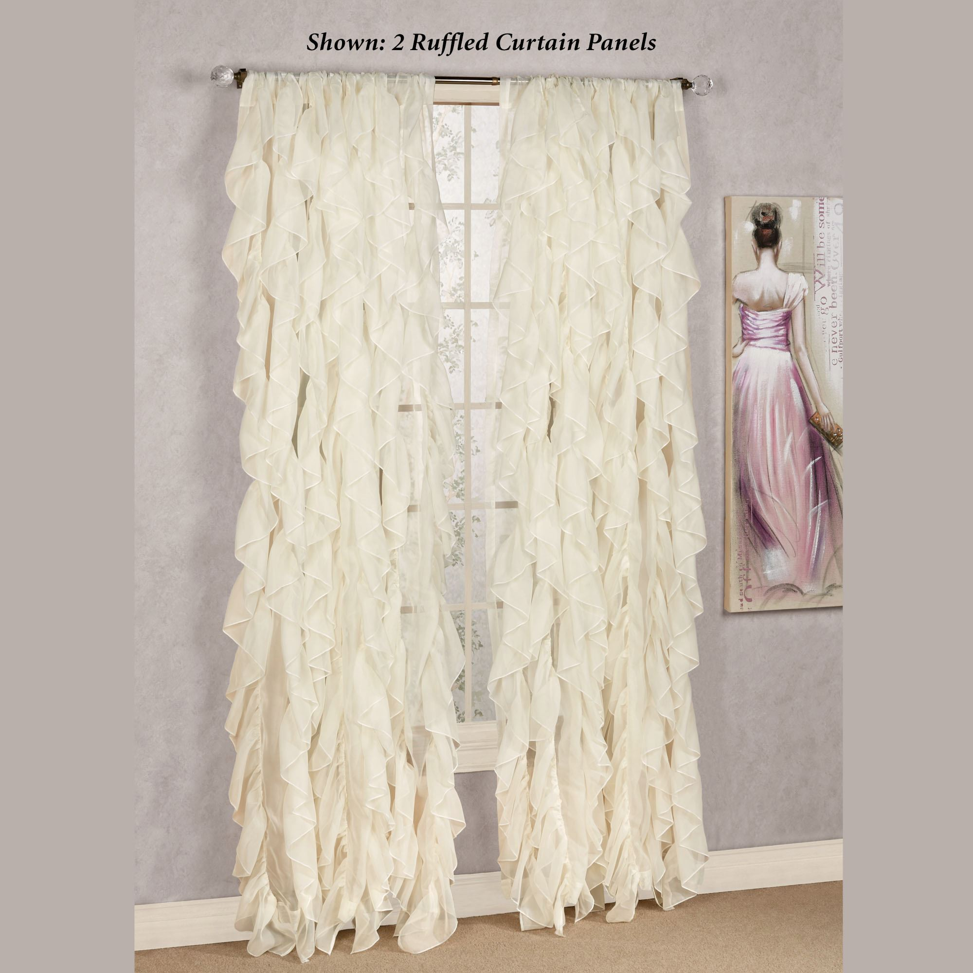 panel view curtains lorraine sheer ruffled curtain home ruffle cream fashions gypsy