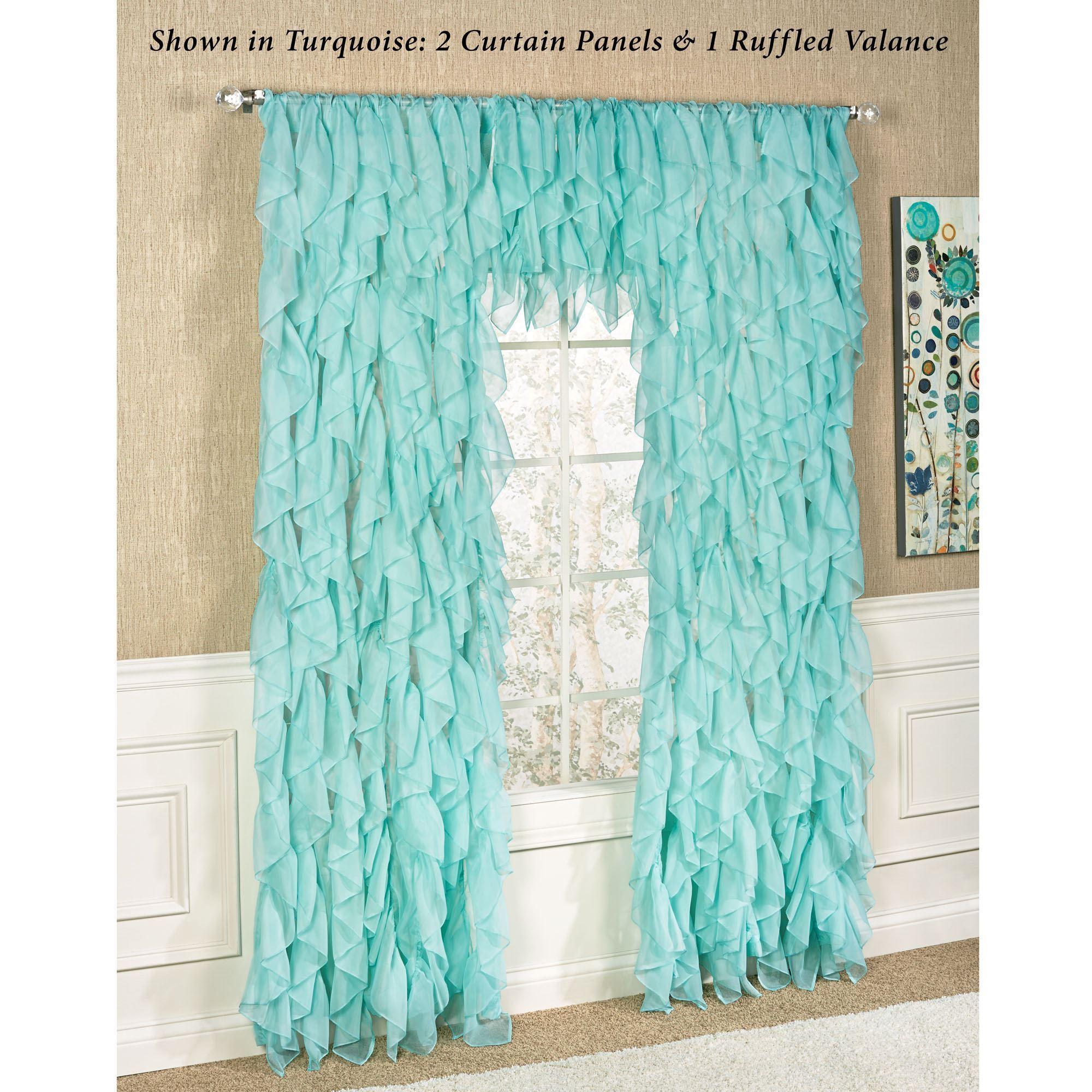 curtain american style sheer pleated item curtains window teal linen color rod pinch room solid home tulle imitation pocket from gauze living in