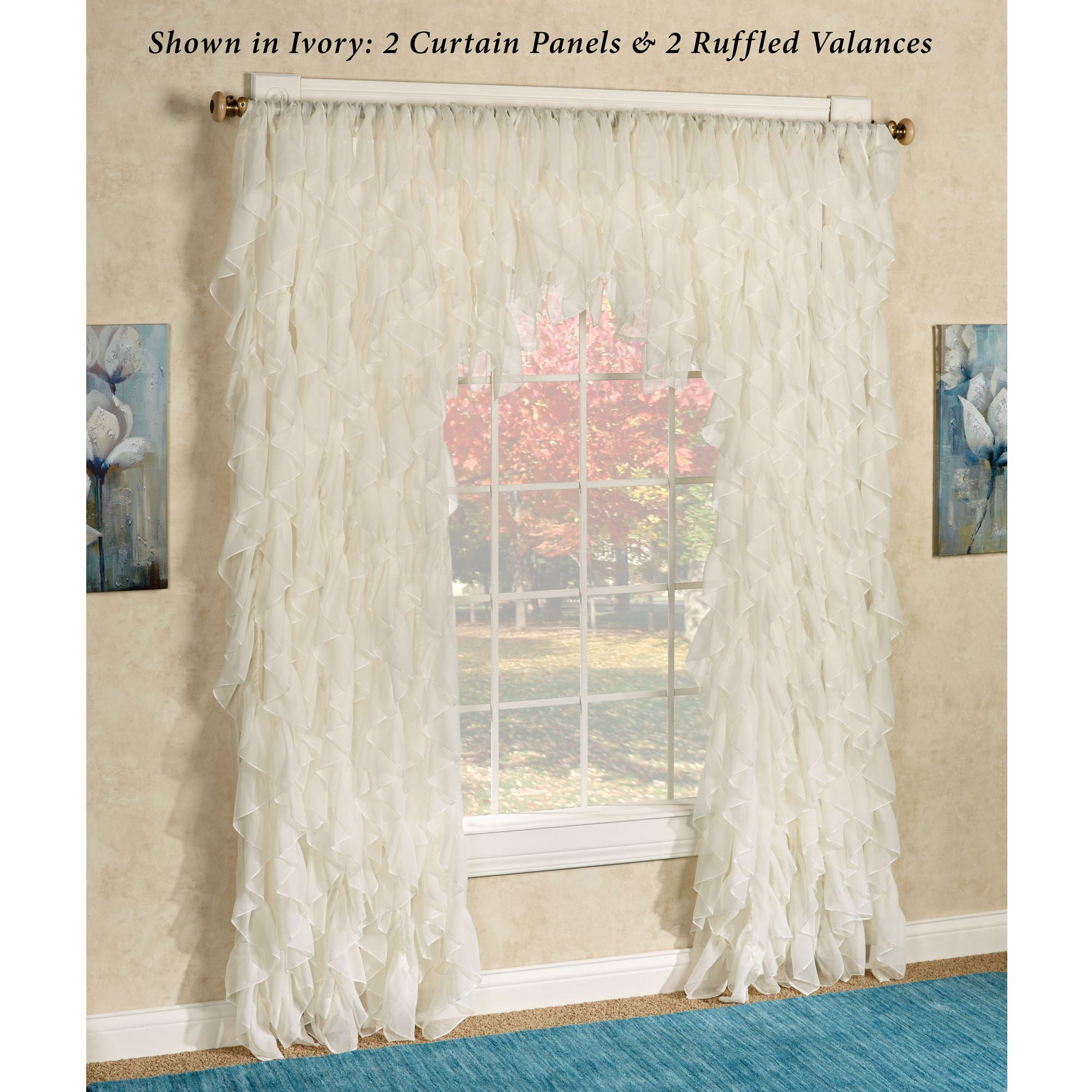 curtains sheer door sparkle itm top voile casablanca panel slot pocket curtain window rod