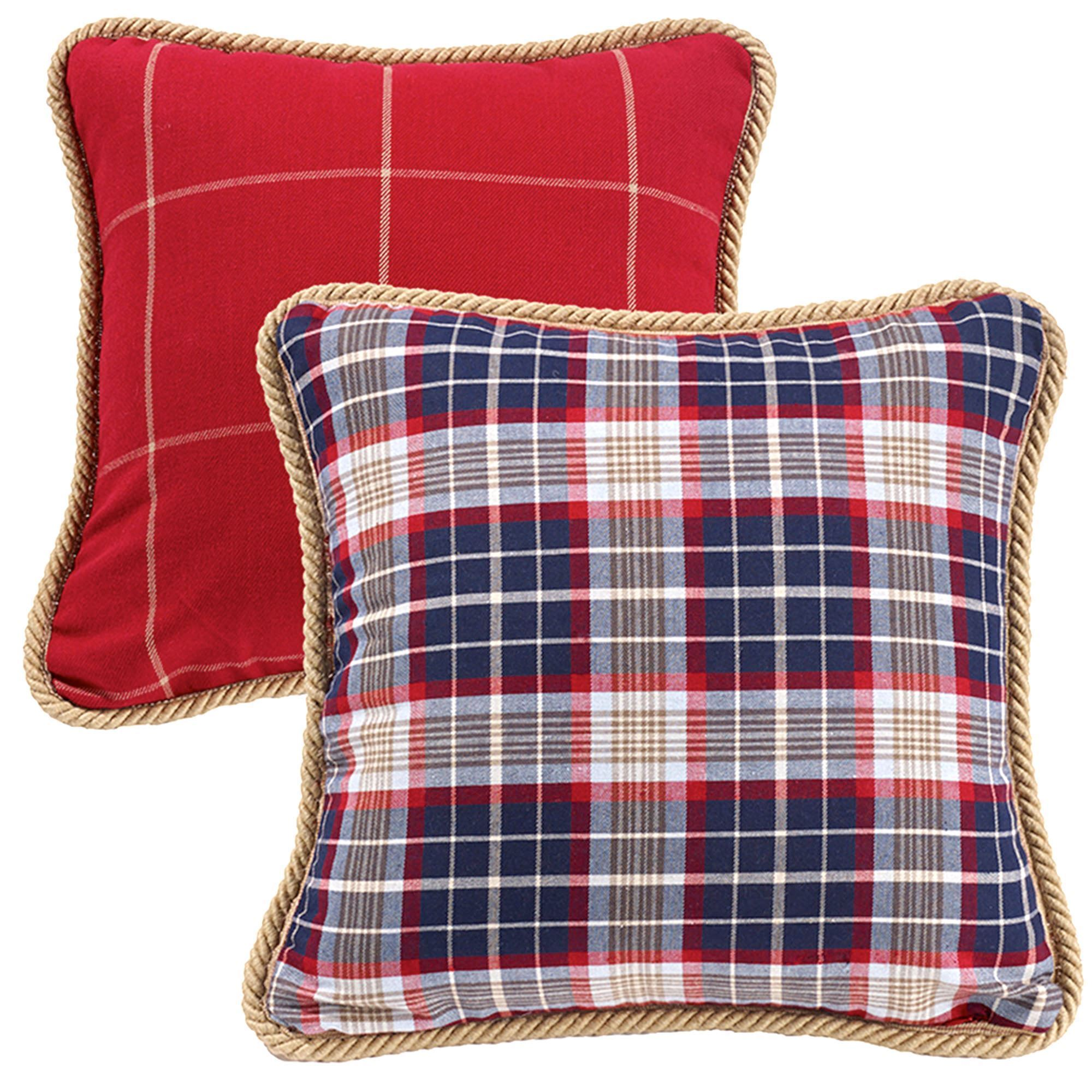 Red Plaid Carolers 18: South Haven Rustic Red Plaid Comforter Bedding