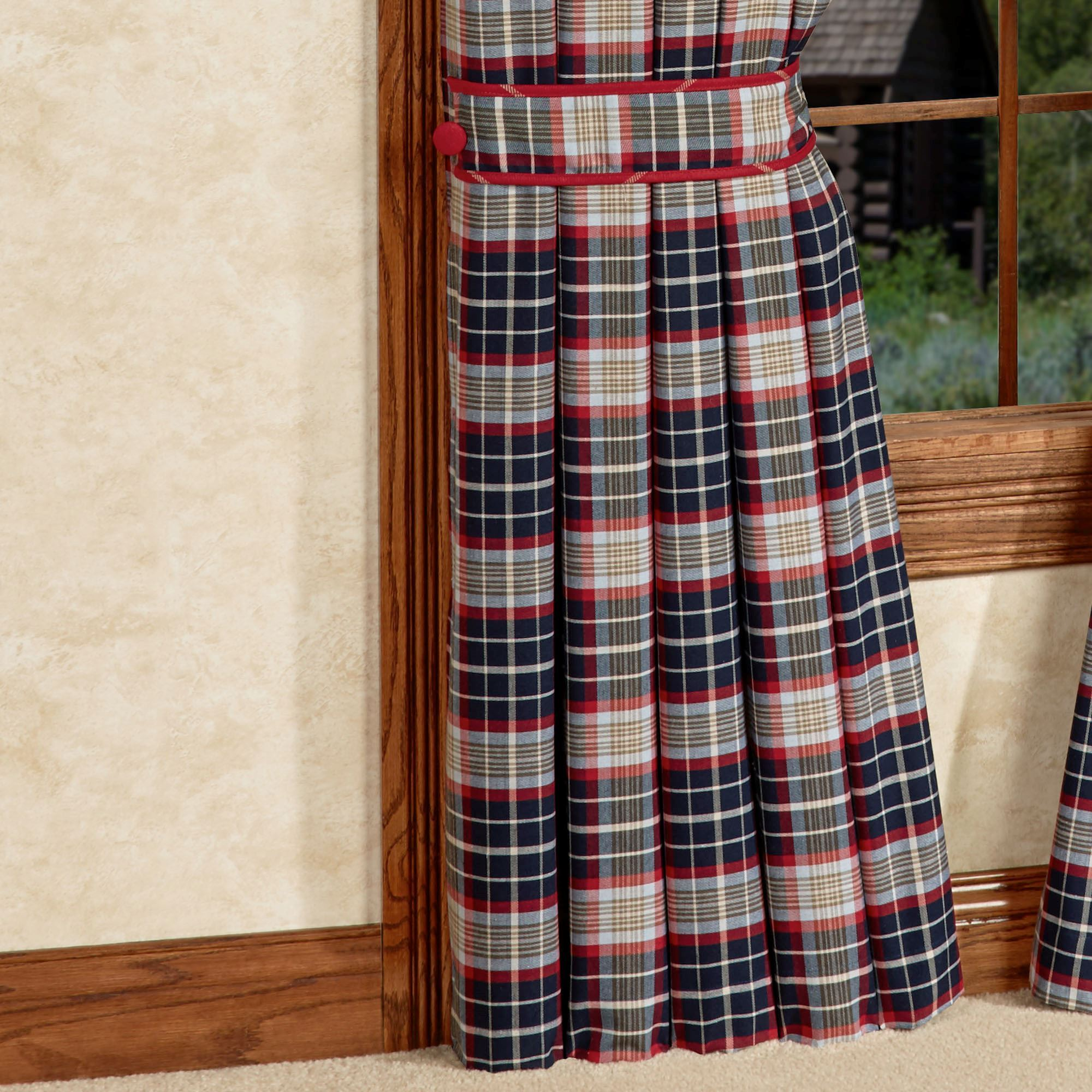 South haven tailored curtain panel navy 48 x 84