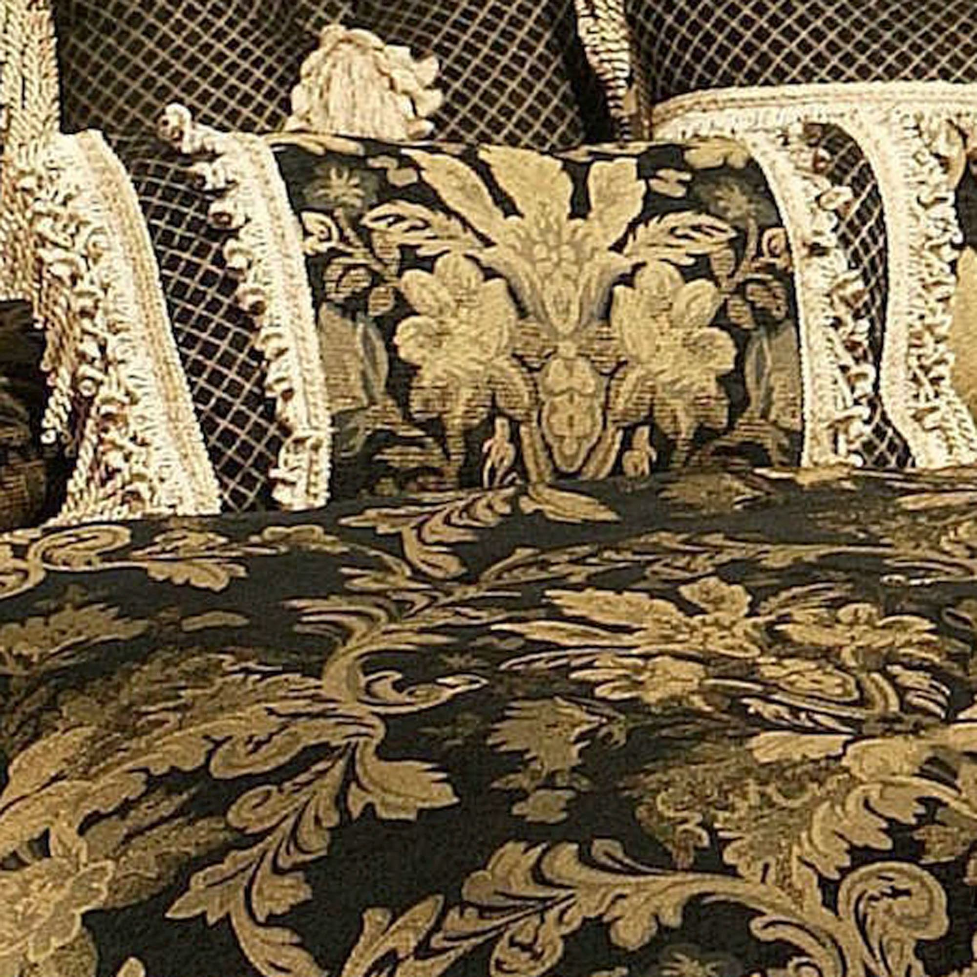 Lismore Black And Gold Damask Comforter Bedding From Austin Horn Classics