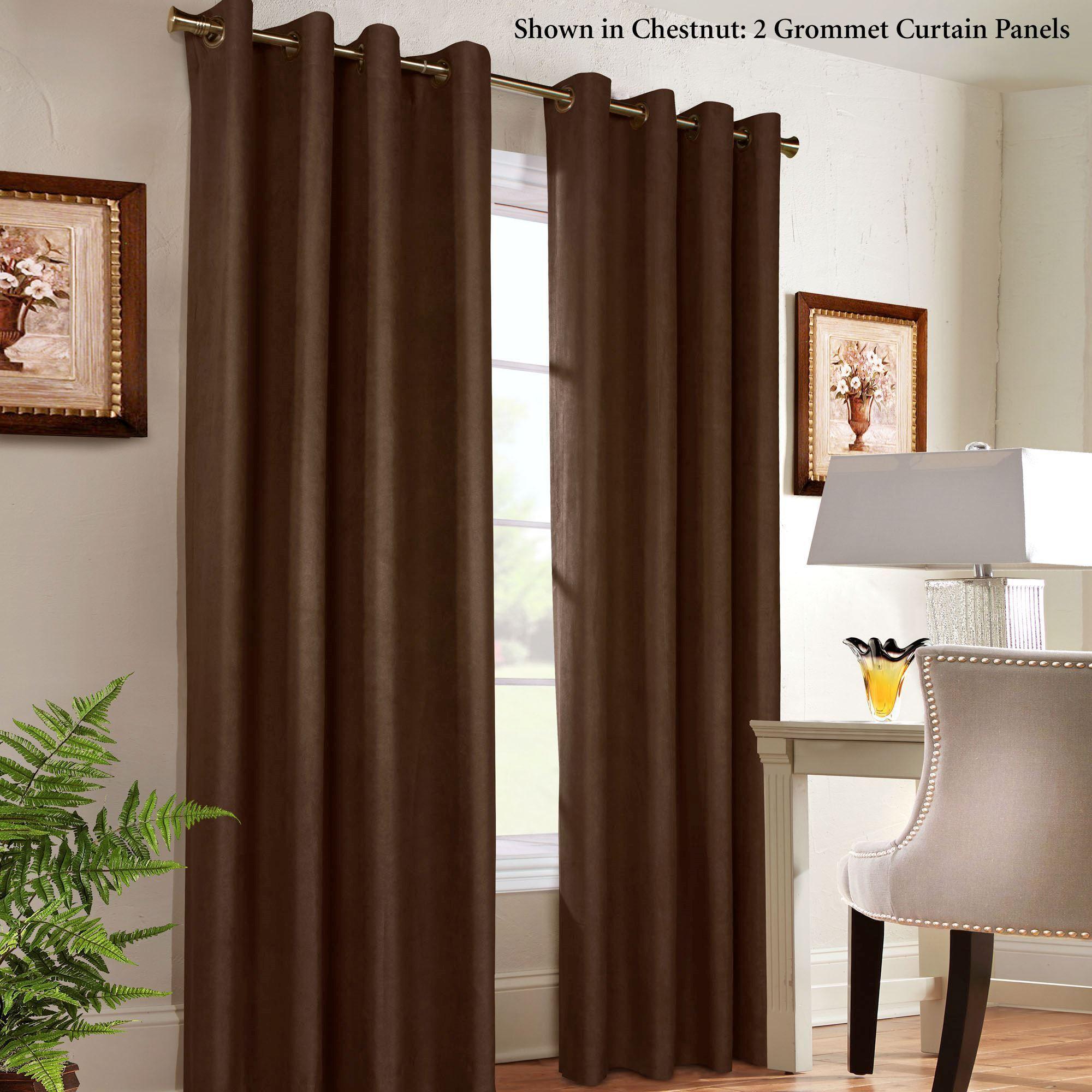 Facets Brown Room Darkening Blackout Insulated Kitchen: Navar Thermaplus Room Darkening Grommet Curtain Panels