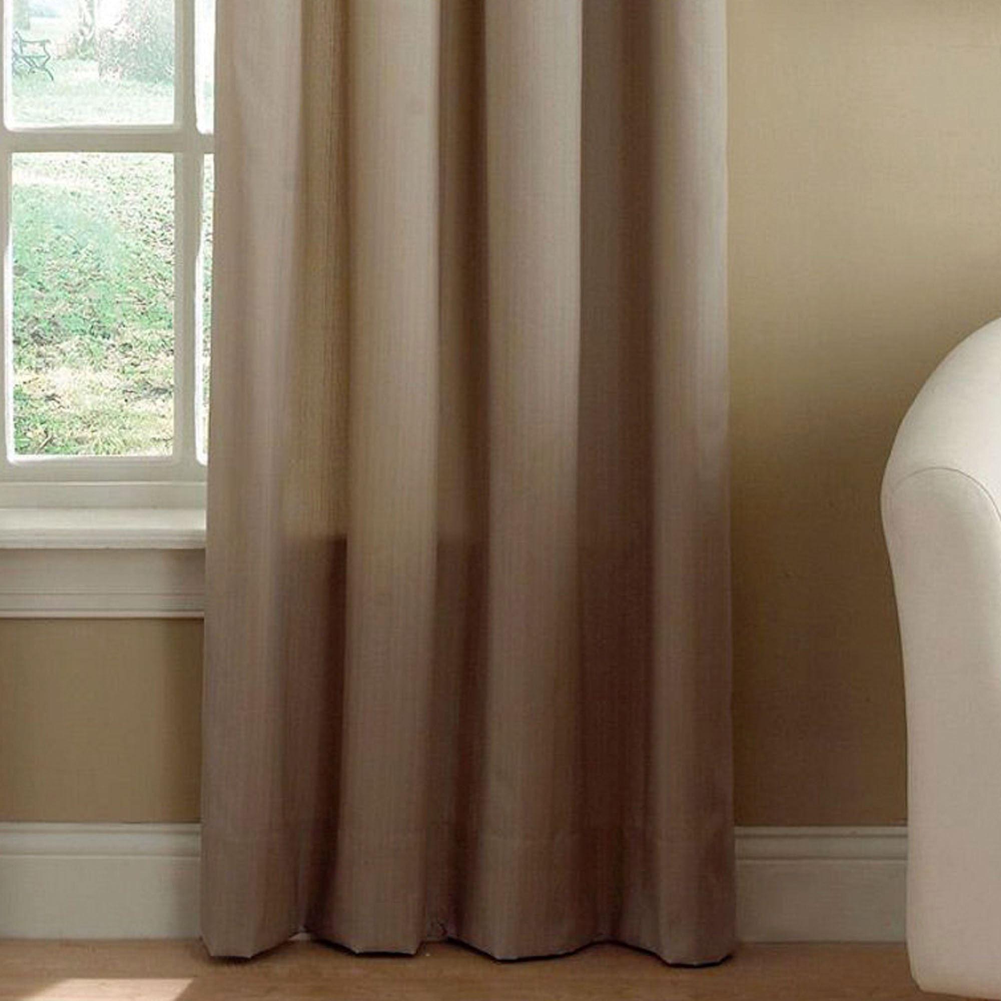 Seashore Tailored Curtain Panel Beige 42 X 84