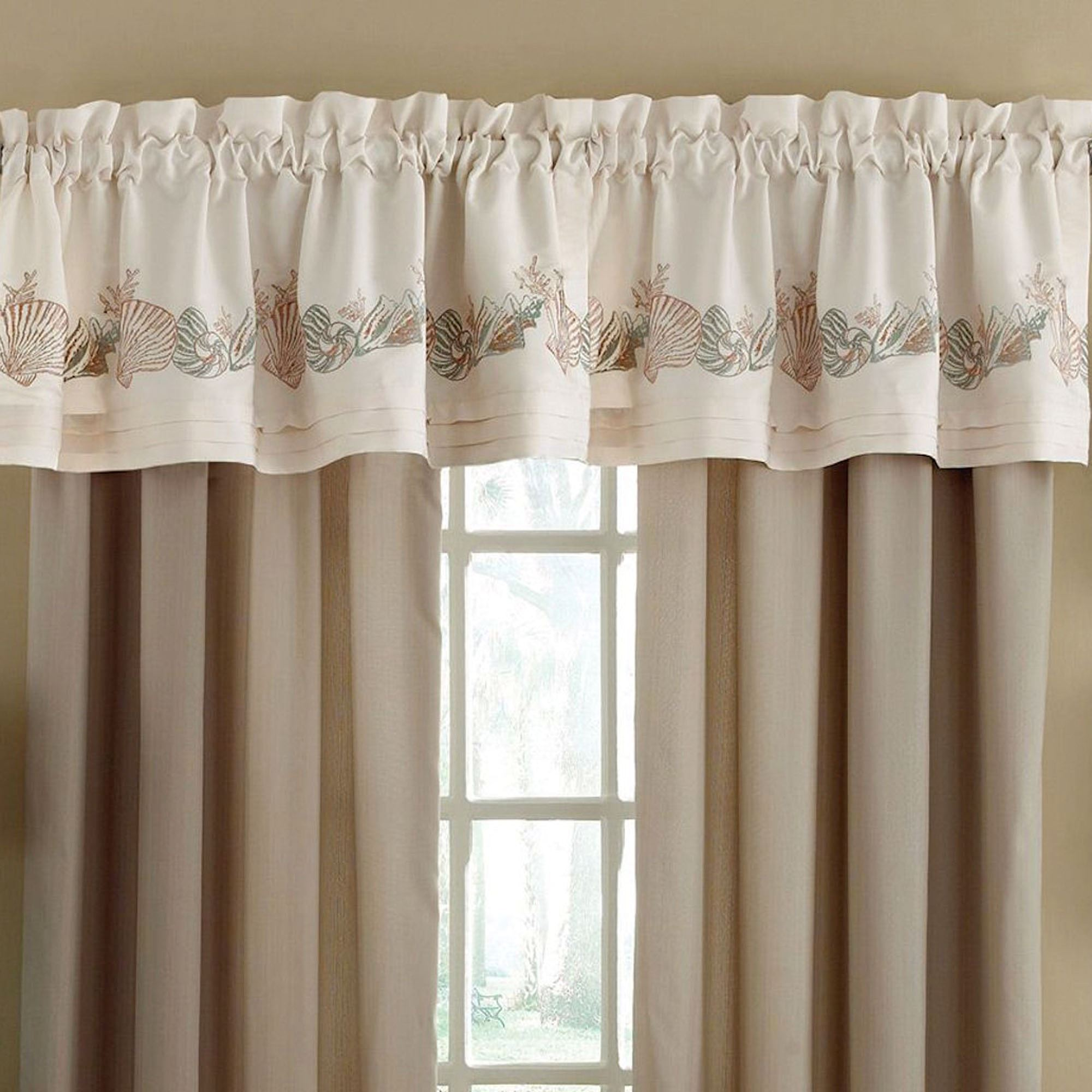 com walmart curtain united window ip sinclair valance beige