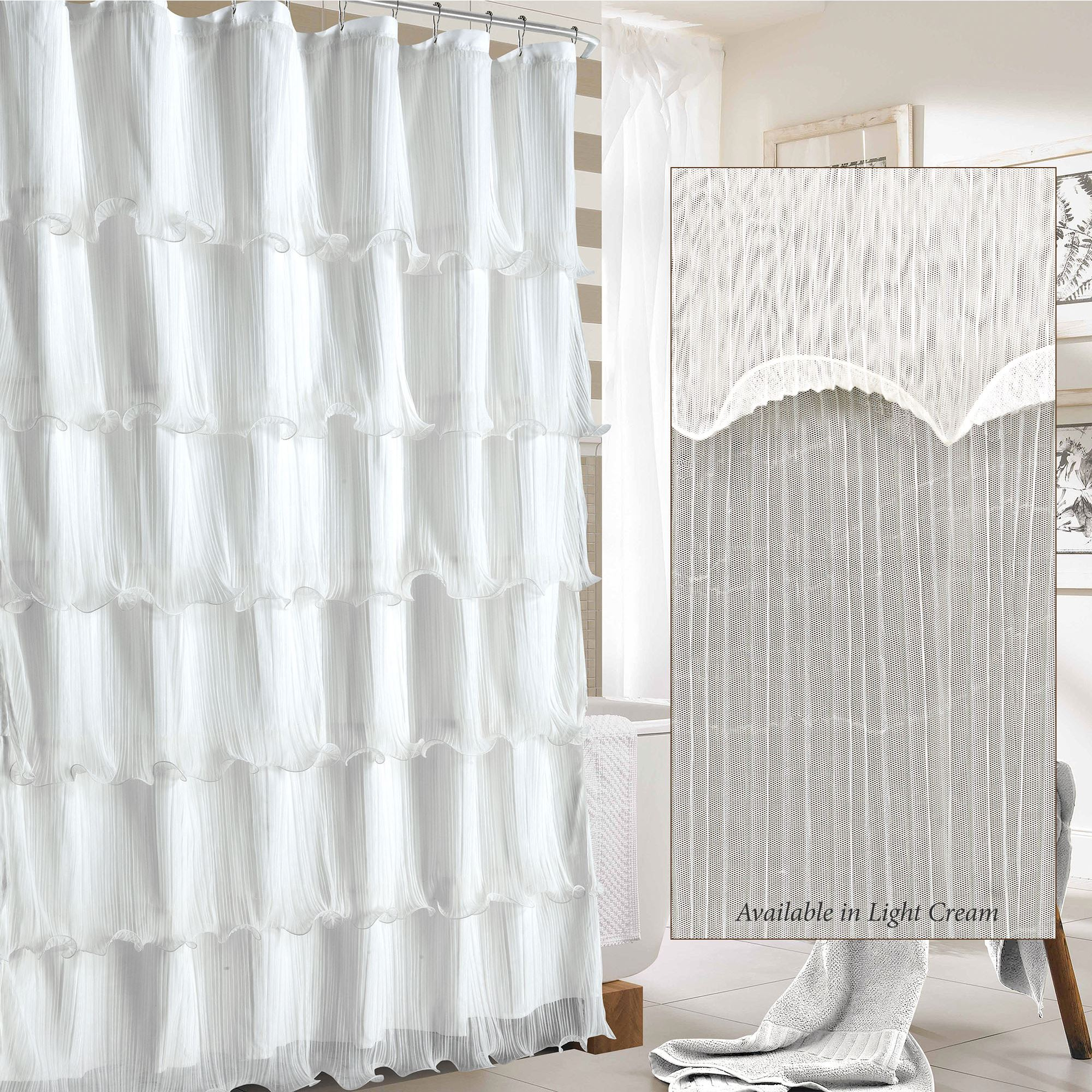Festival Pleated Ruffled Shower Curtain