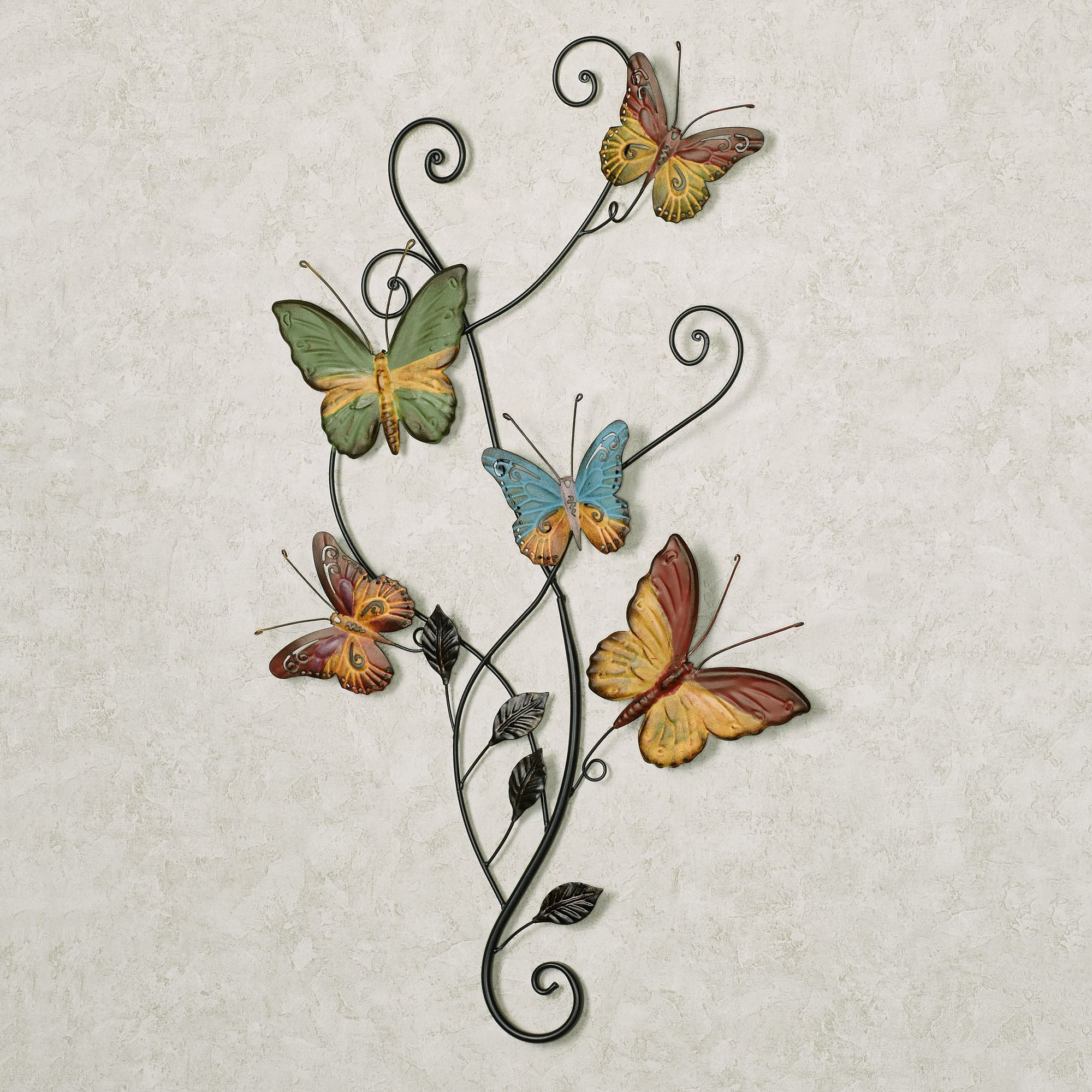 Dancing Butterflies Metal Wall Art