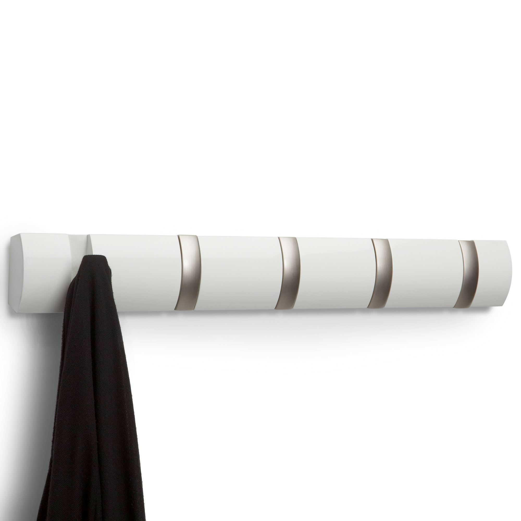 Durand Wall Hook Rack With Flip Hooks