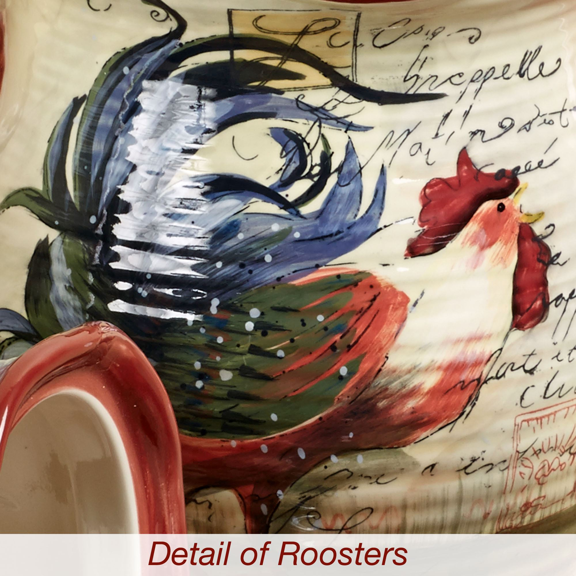 Le Rooster Kitchen Canisters Set Of Four
