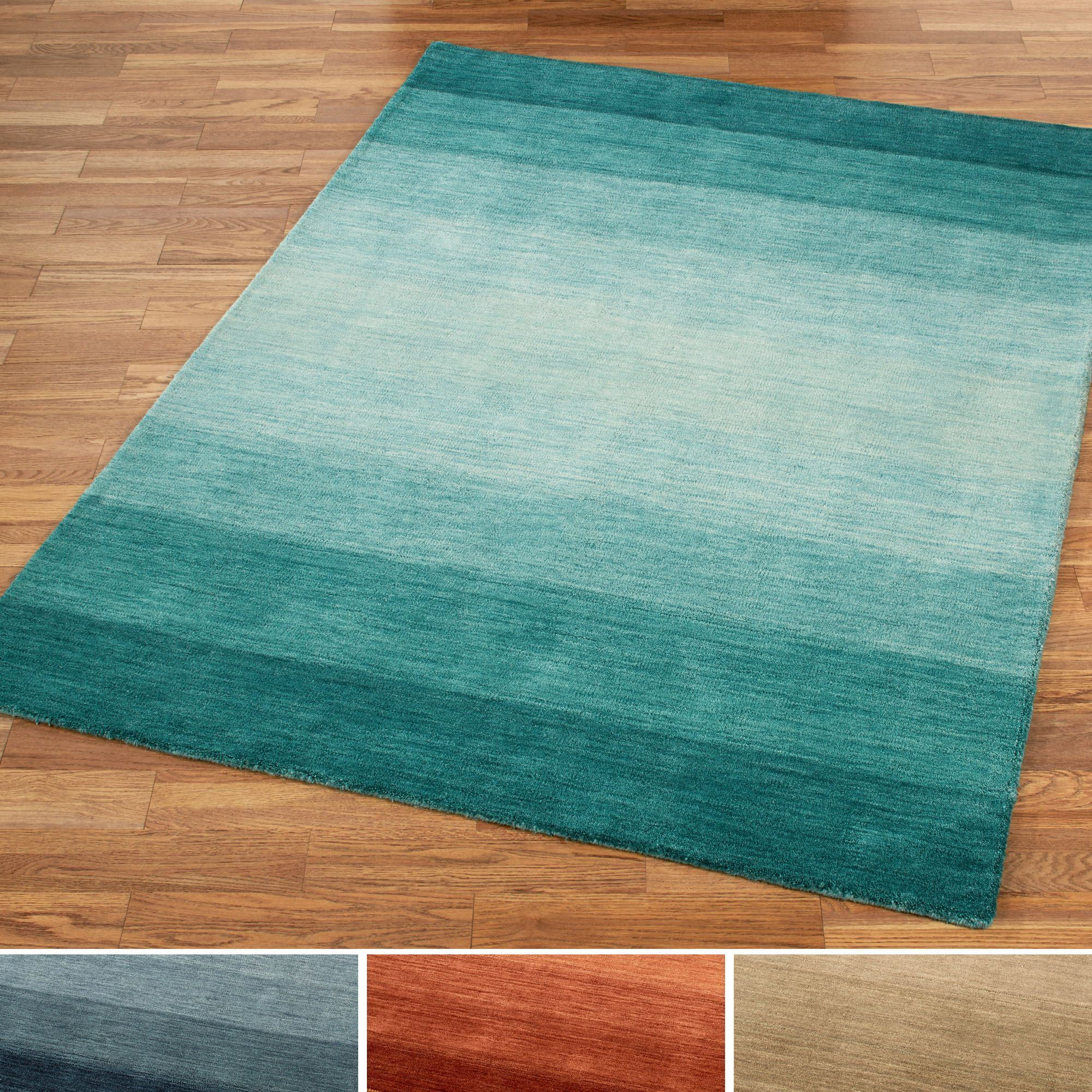 Brennon Hand Loomed Wool Ombre Area Rugs