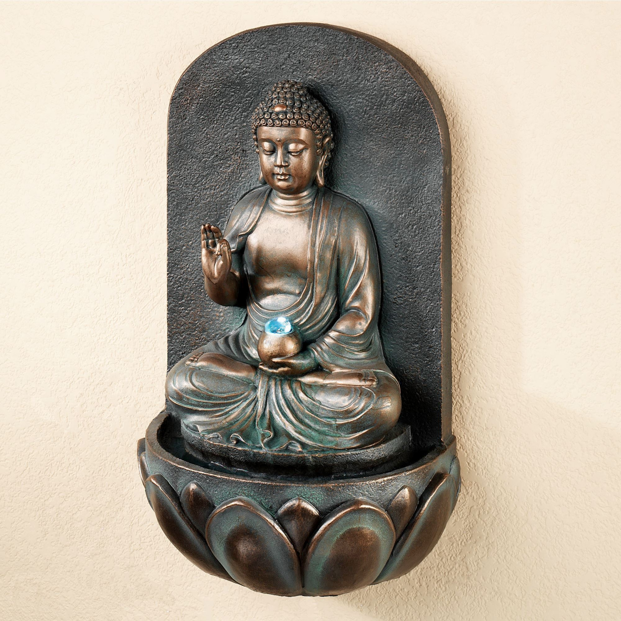 Reflecting buddha indoor outdoor wall water fountain reflecting buddha wall fountain bronze click to expand workwithnaturefo