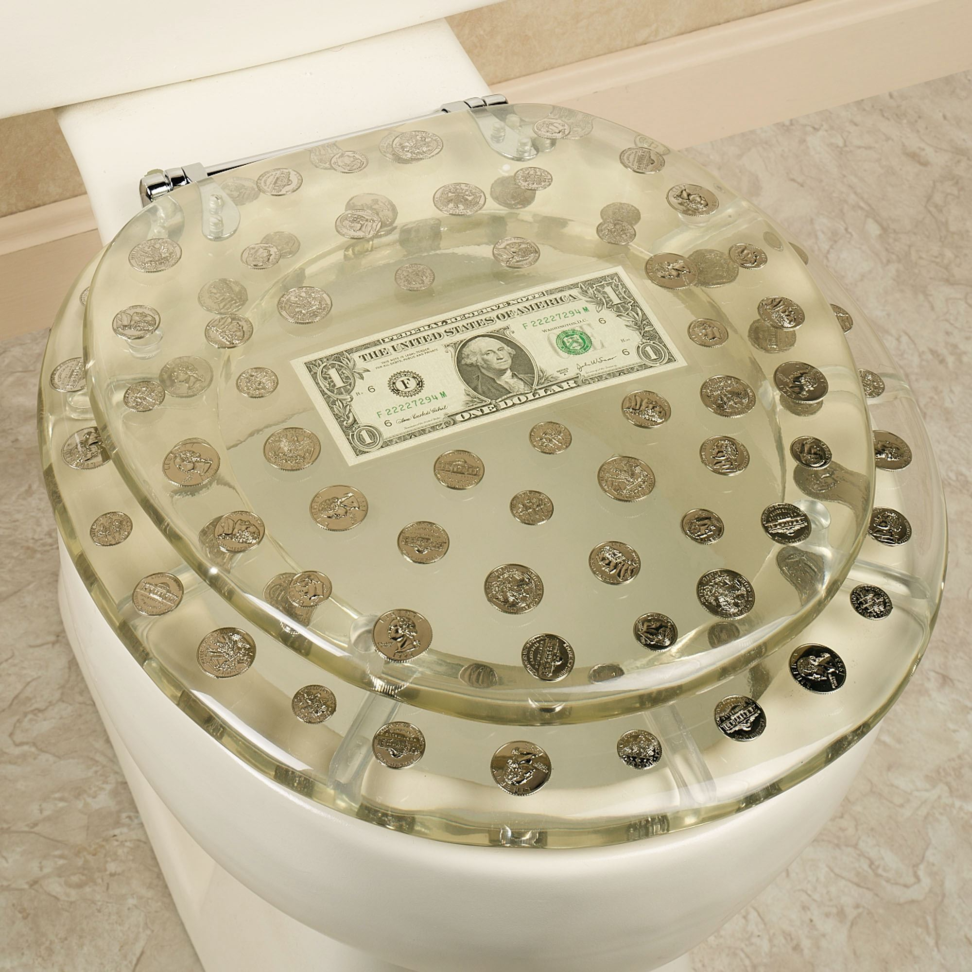 Stupendous Dollar Bill Toilet Seat Caraccident5 Cool Chair Designs And Ideas Caraccident5Info