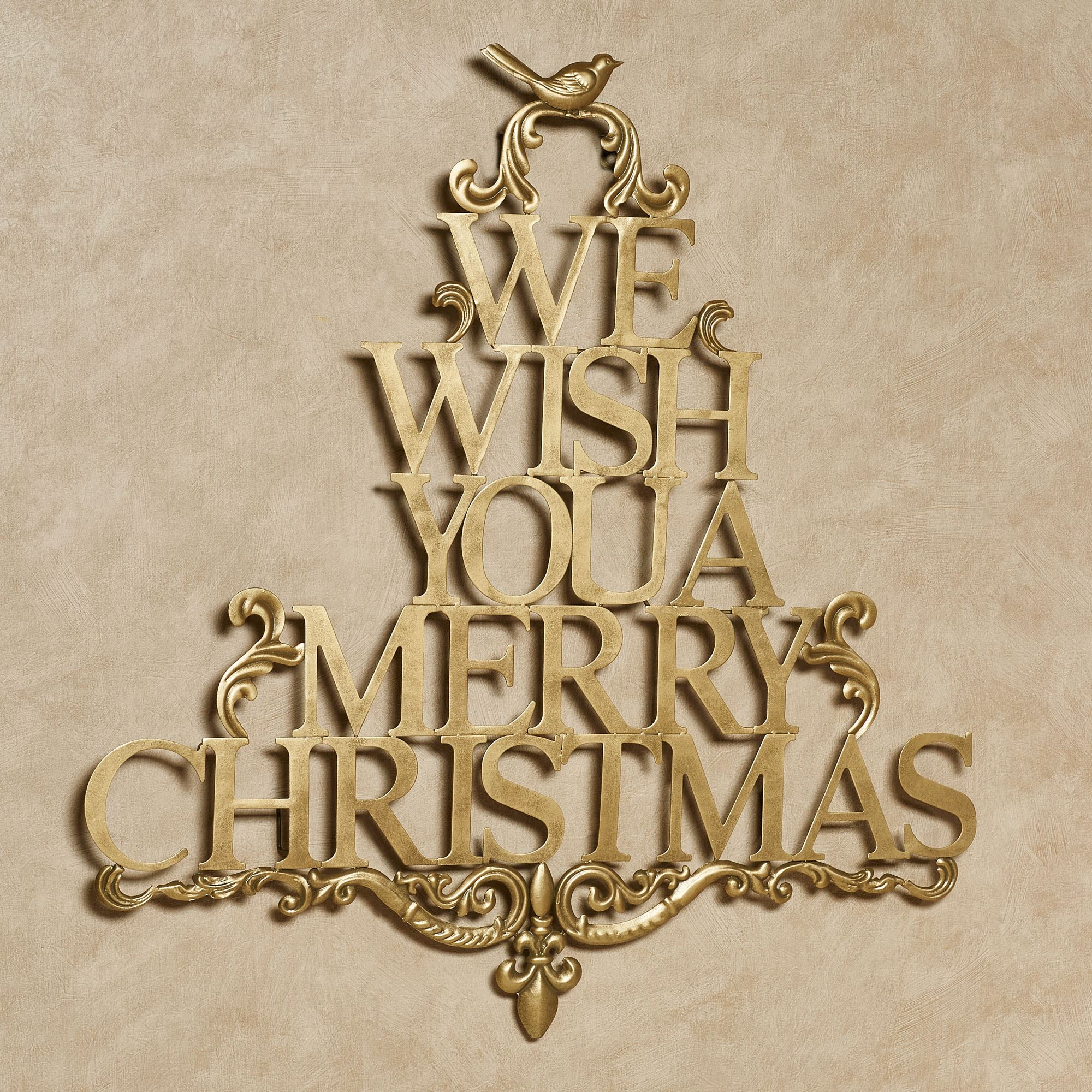We Wish You A Merry Christmas Metal Wall Art