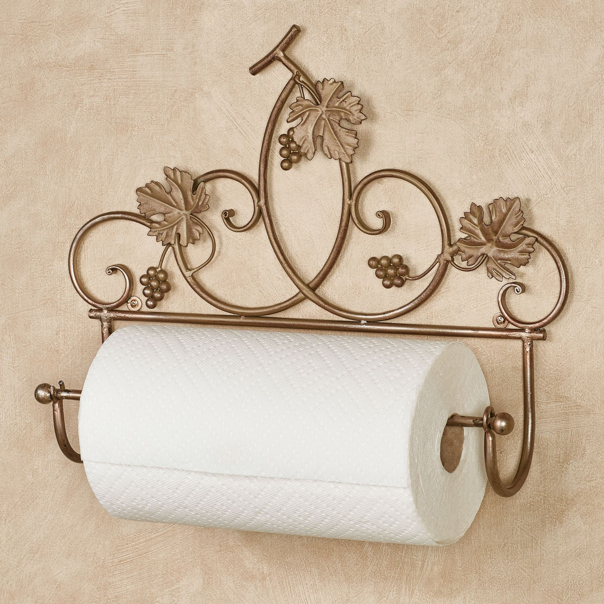 Grapevine Wall Mount Paper Towel Holder