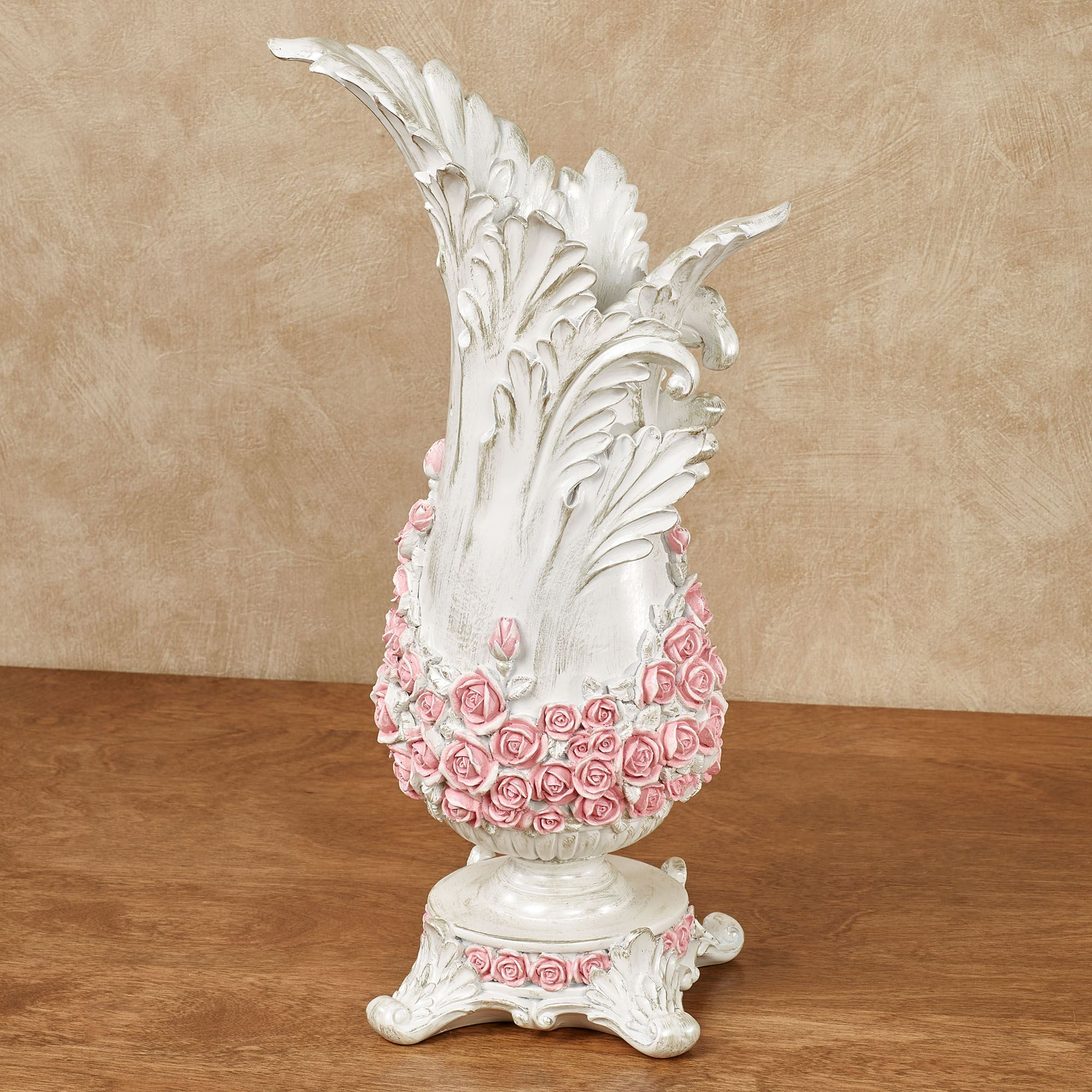 Victorian Rose Antique White Decorative Table Vase