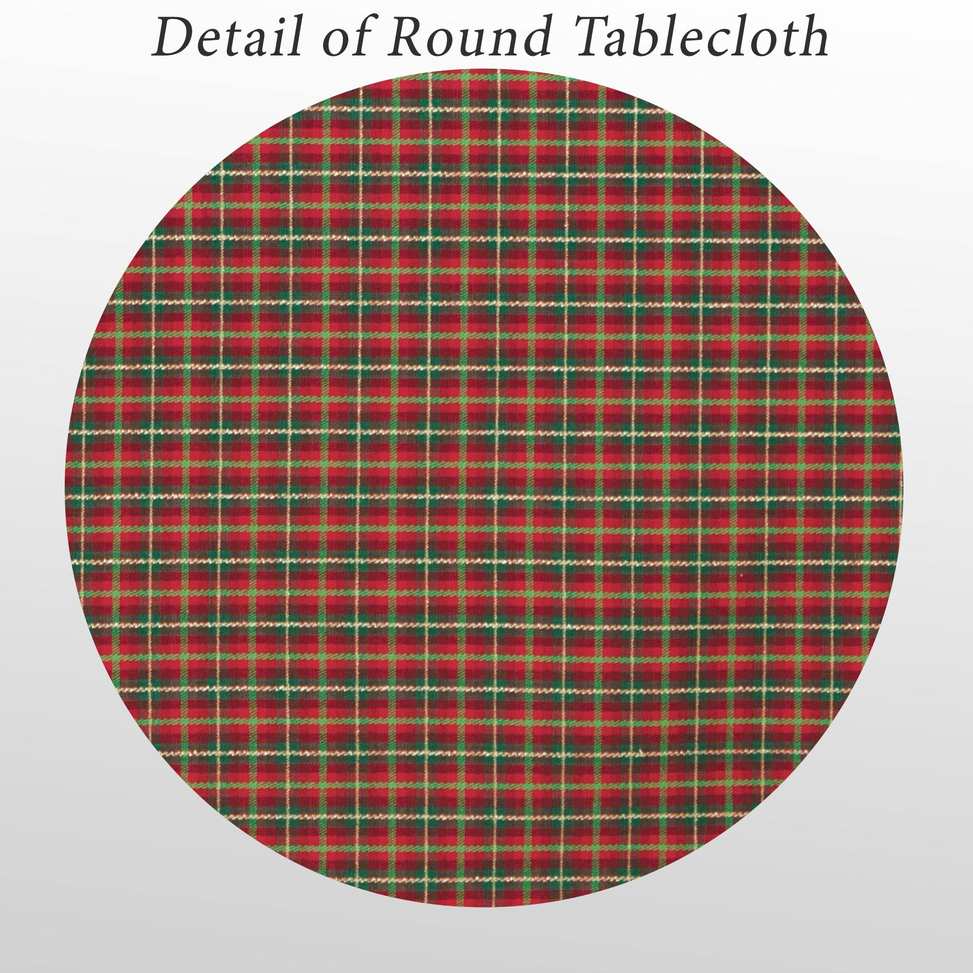 Holiday Nouveau Joyful Round Tablecloth Red 70 Round