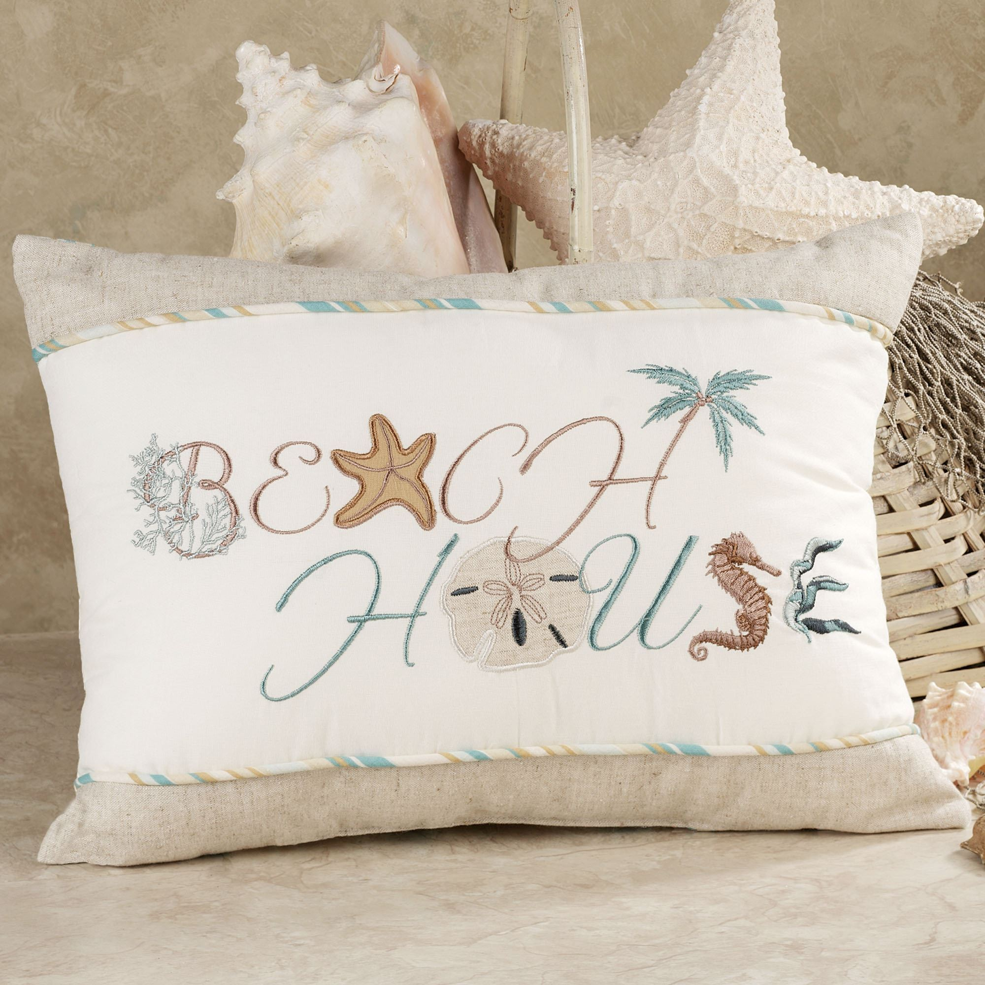 of cotton set beach howarmer canvas pillows aqua blue pillow pin theme cover decorative