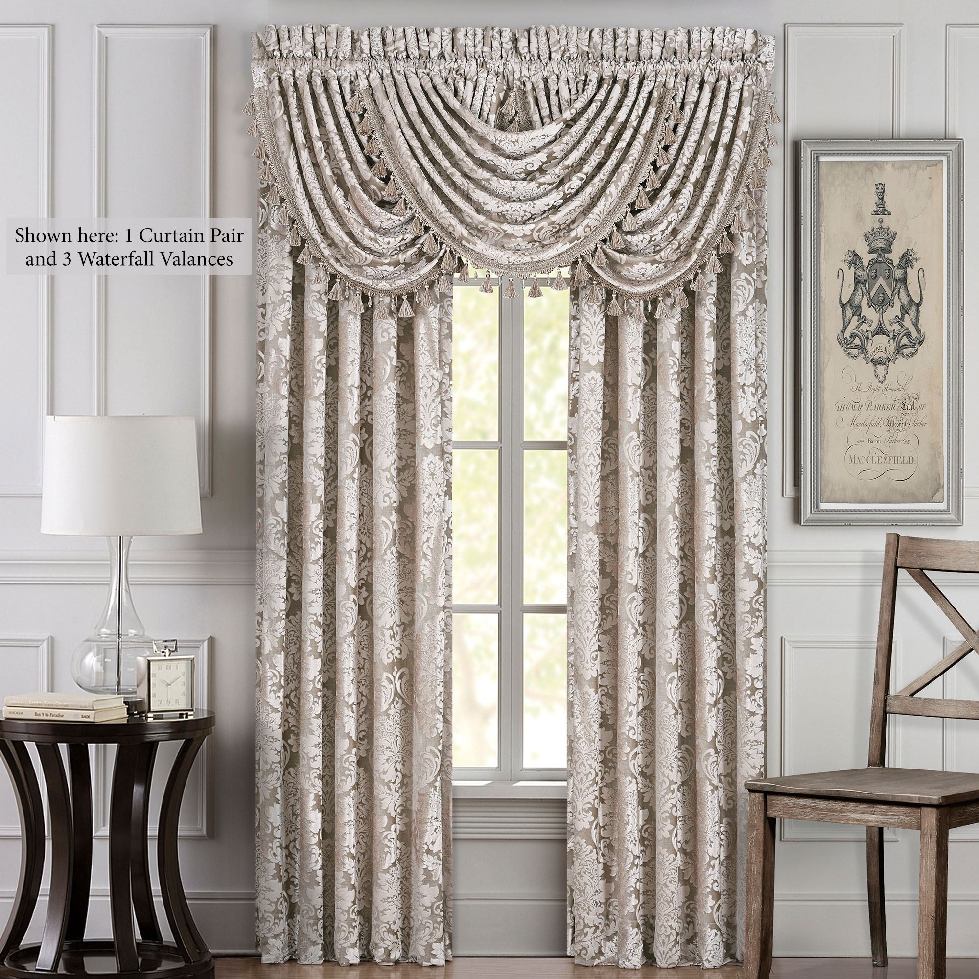 Elegant window treatments living room valance curtain Elegant window treatment ideas